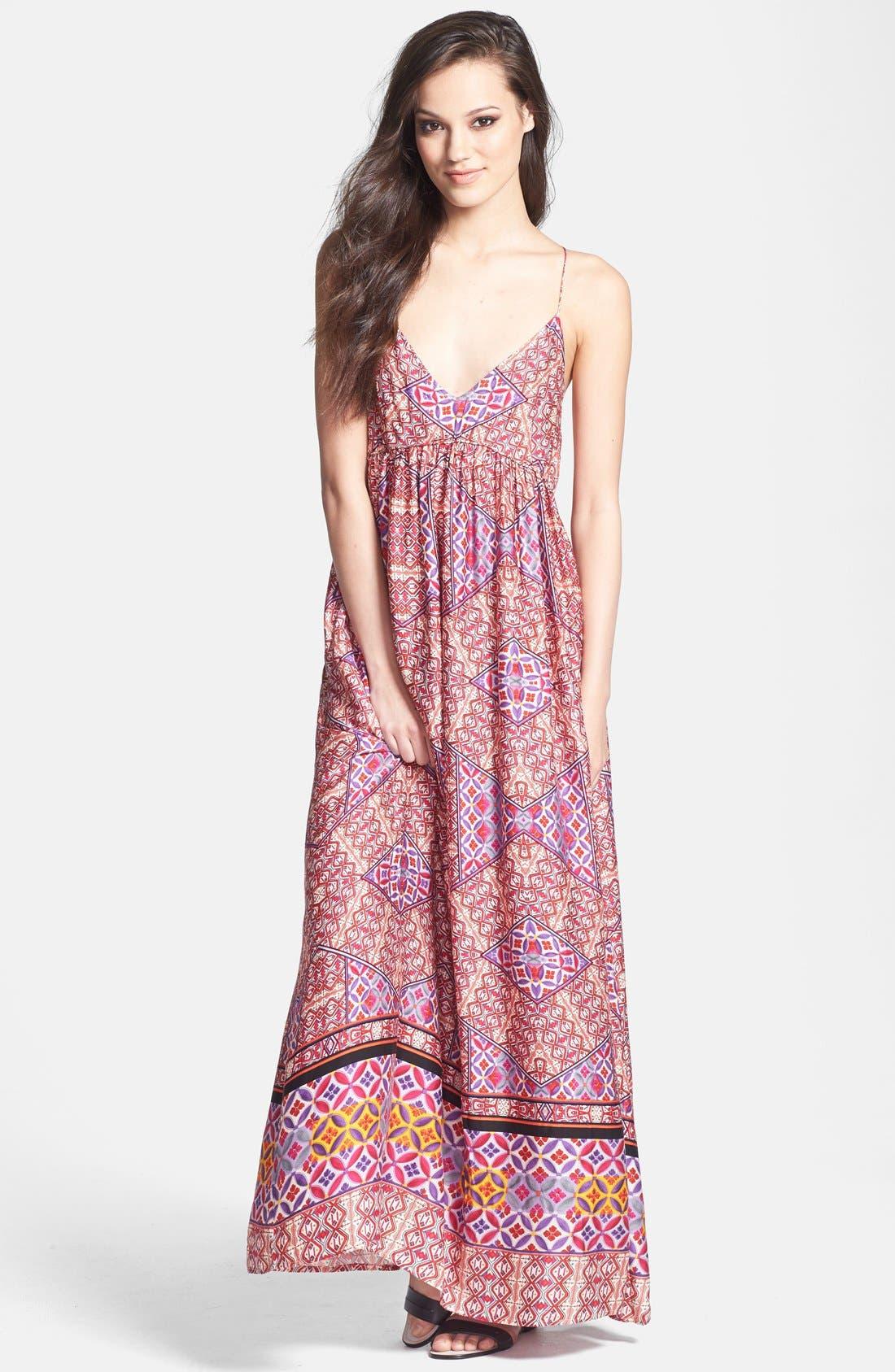 Alternate Image 1 Selected - MINKPINK Tile Print Maxi Dress