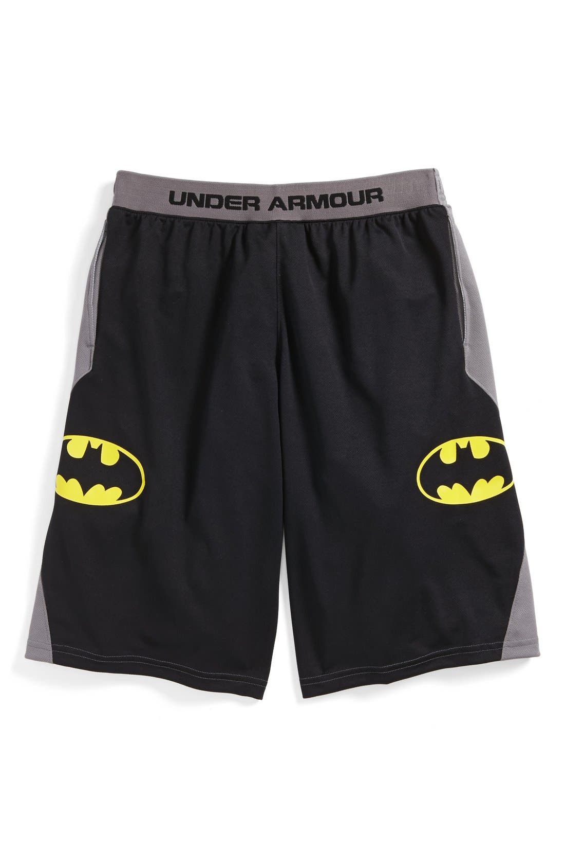 Alternate Image 1 Selected - Under Armour 'Alter Ego - Batman' Shorts (Little Boys & Big Boys)