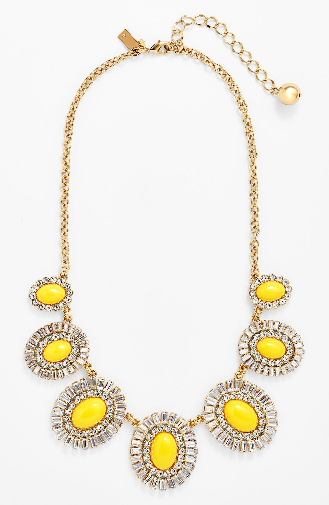 Main Image - kate spade new york 'capri garden' oval frontal necklace