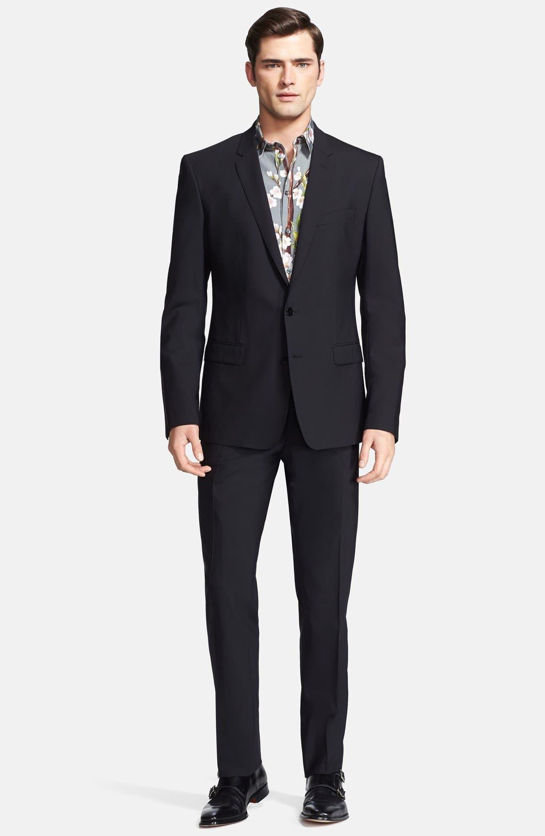 Main Image - Dolce&Gabbana 'Martini' Stretch Wool Suit