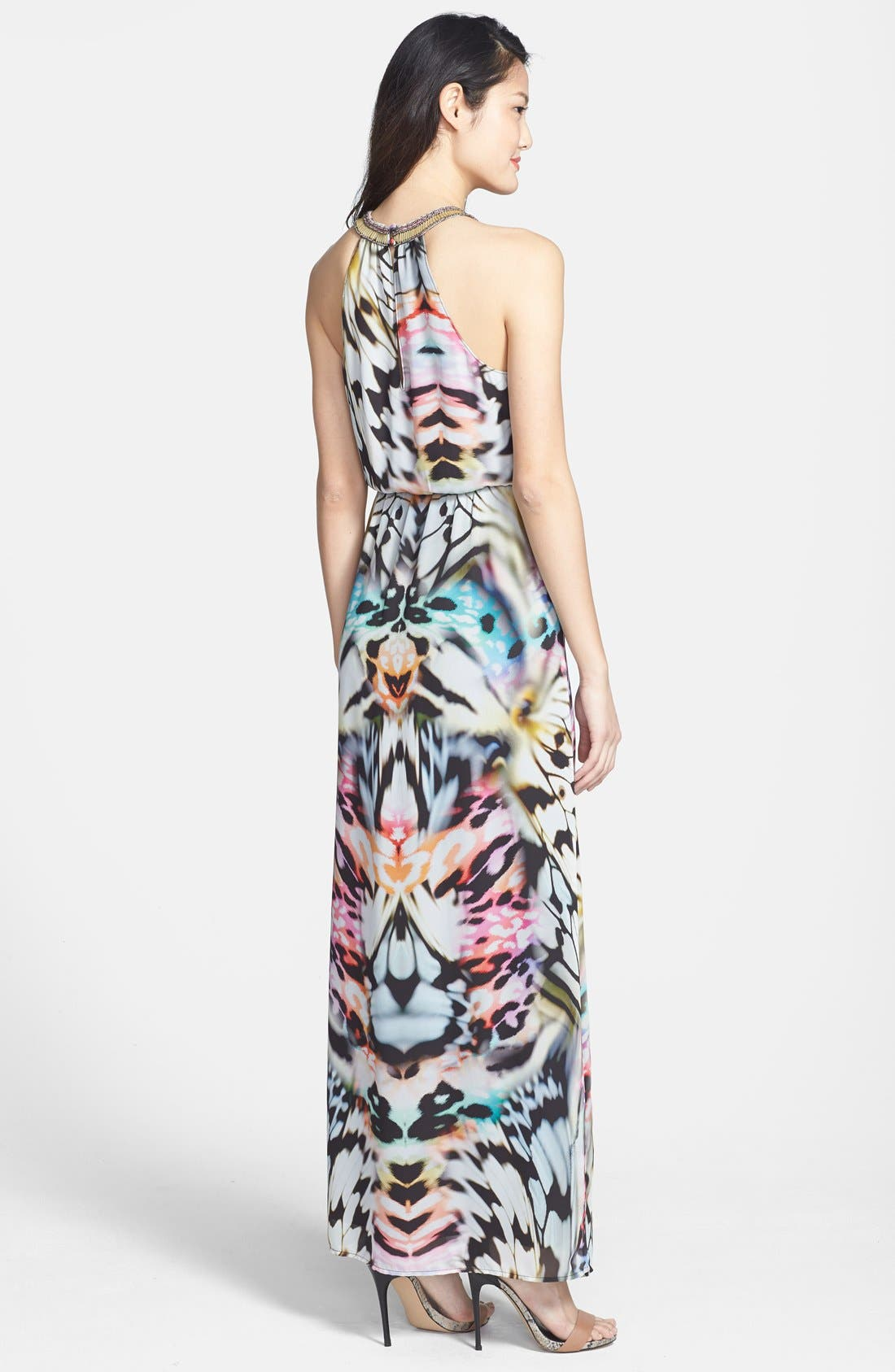Alternate Image 2  - Charlie Jade 'Ava' Embellished Georgette Maxi Dress