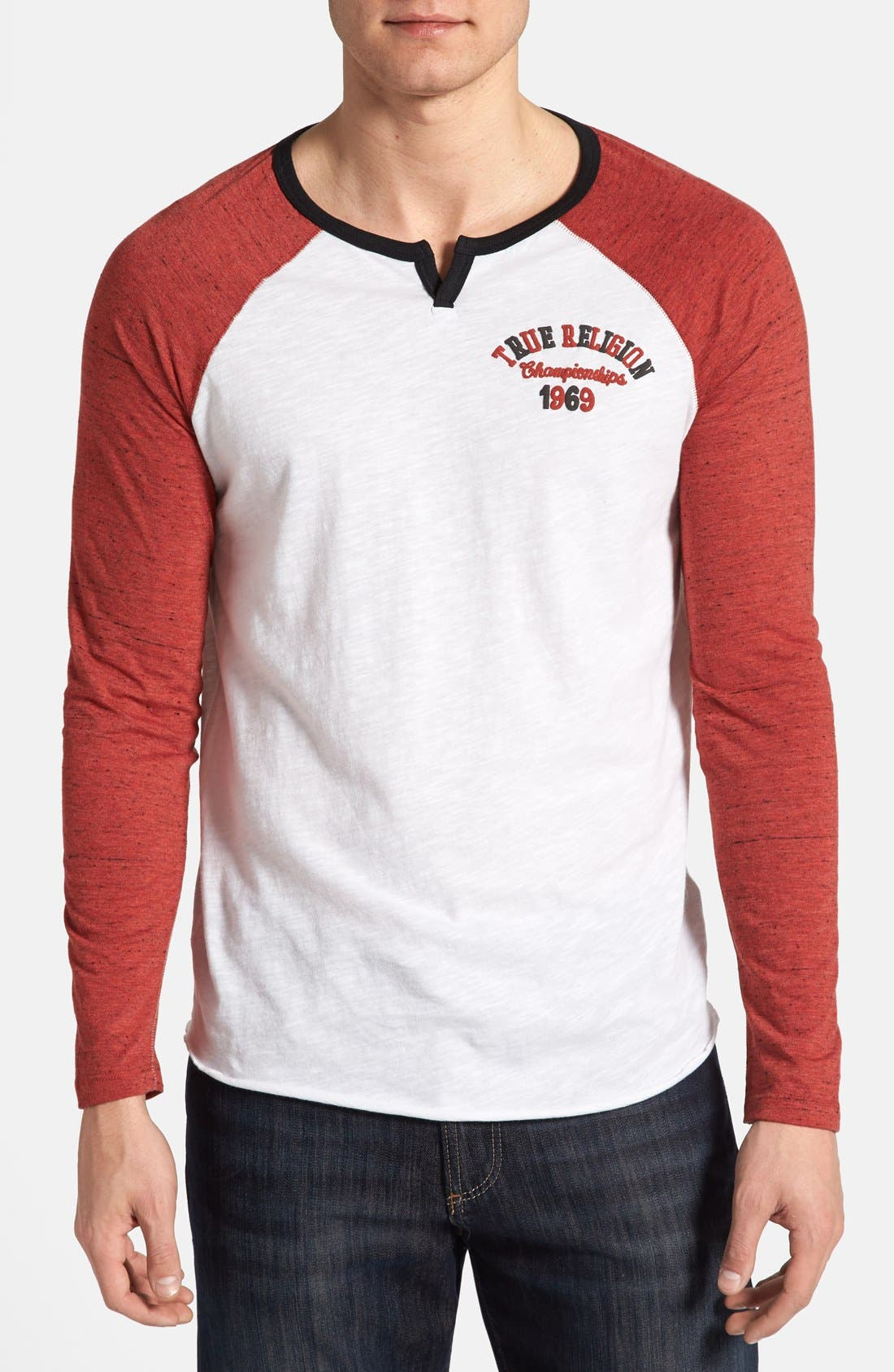 Alternate Image 1 Selected - True Religion Brand Jeans 'Champs' Raglan Sleeve T-Shirt