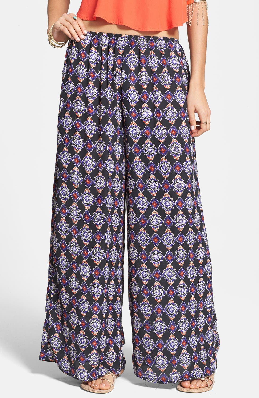 Alternate Image 1 Selected - Lily White Palazzo Pants (Juniors)