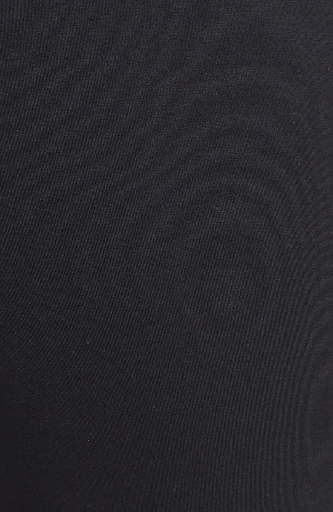 Modern Cotton Lounge Pants,                             Alternate thumbnail 3, color,                             Black