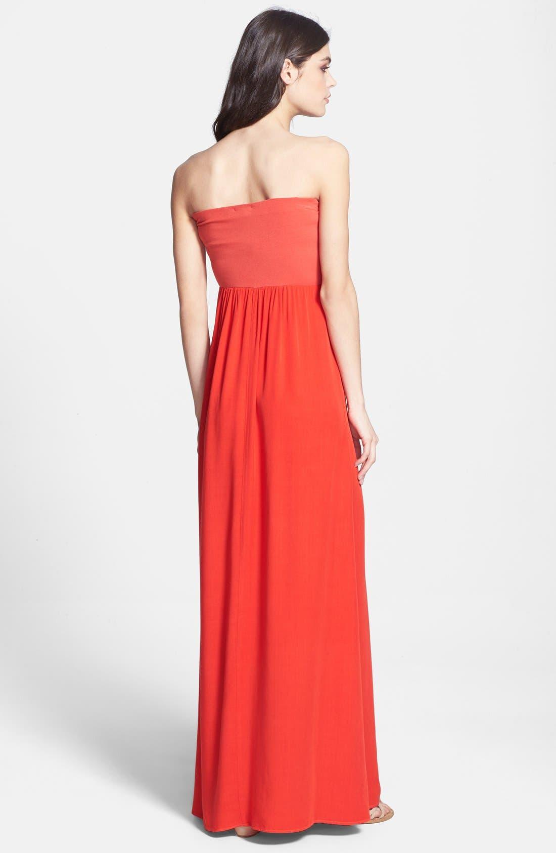 Alternate Image 2  - Splendid Strapless Knit Maxi Dress