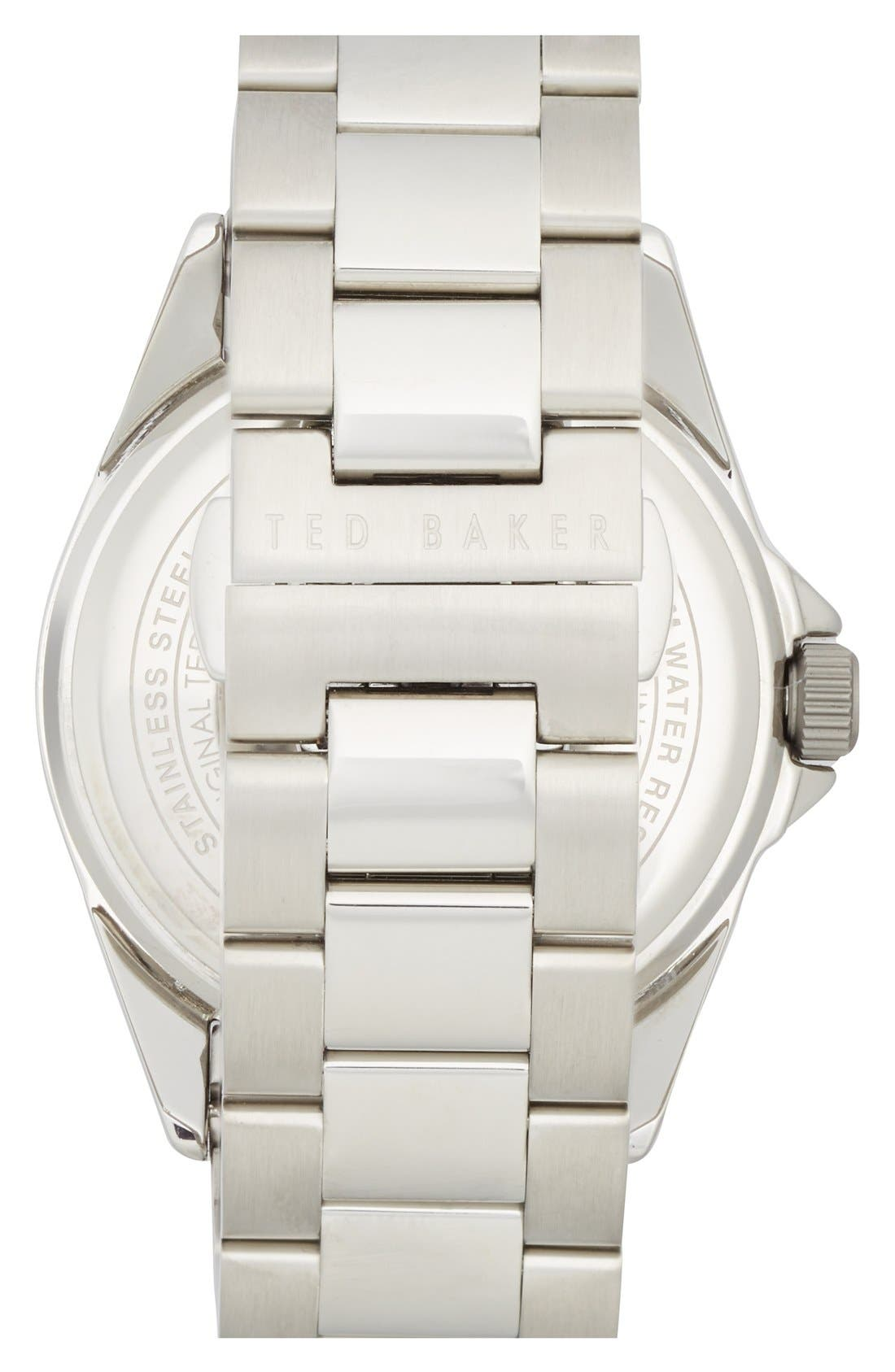 Alternate Image 2  - Ted Baker London Round Bracelet Watch, 42mm