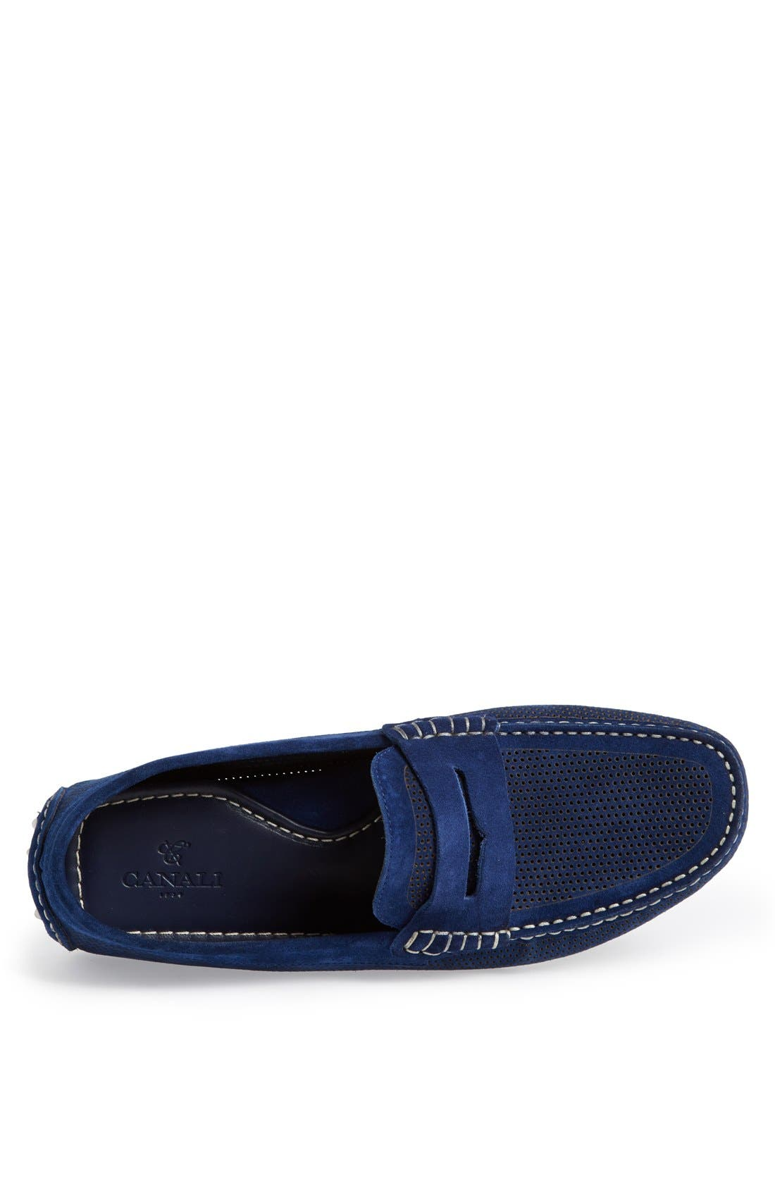 Alternate Image 3  - Canali Perforated Suede Driving Shoe (Men)