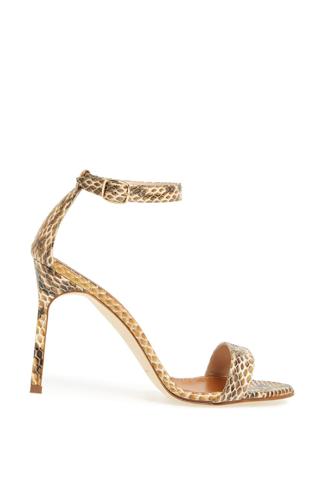 Alternate Image 4  - Manolo Blahnik 'Chaos' Cuff Genuine Snakeskin Sandal