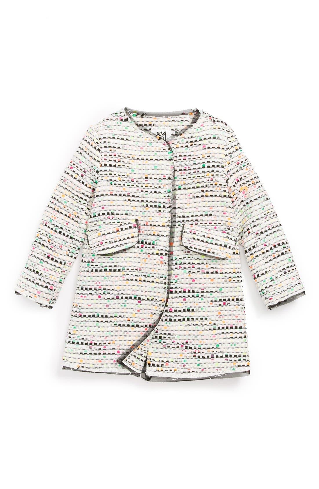 Alternate Image 1 Selected - Milly Minis 'Confetti' Tweed Coat (Toddler Girls, Little Girls & Big Girls)