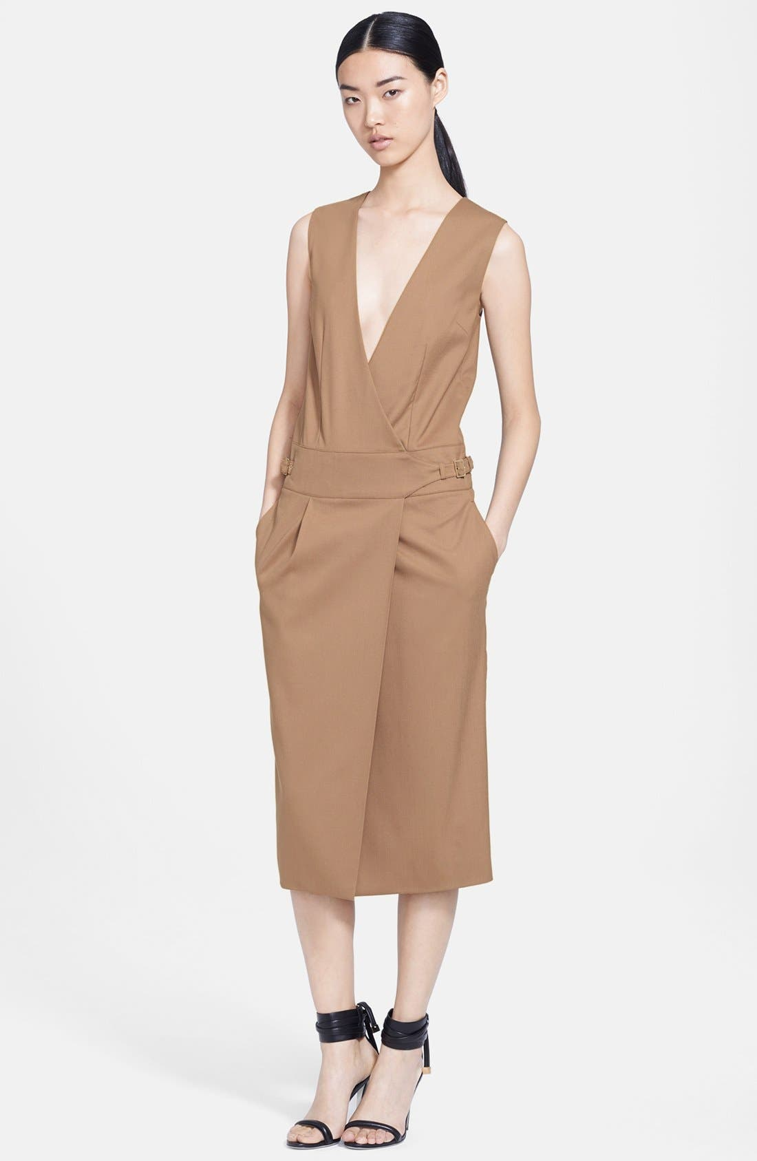 Alternate Image 1 Selected - Jason Wu Stretch Wool Utility Wrap Dress