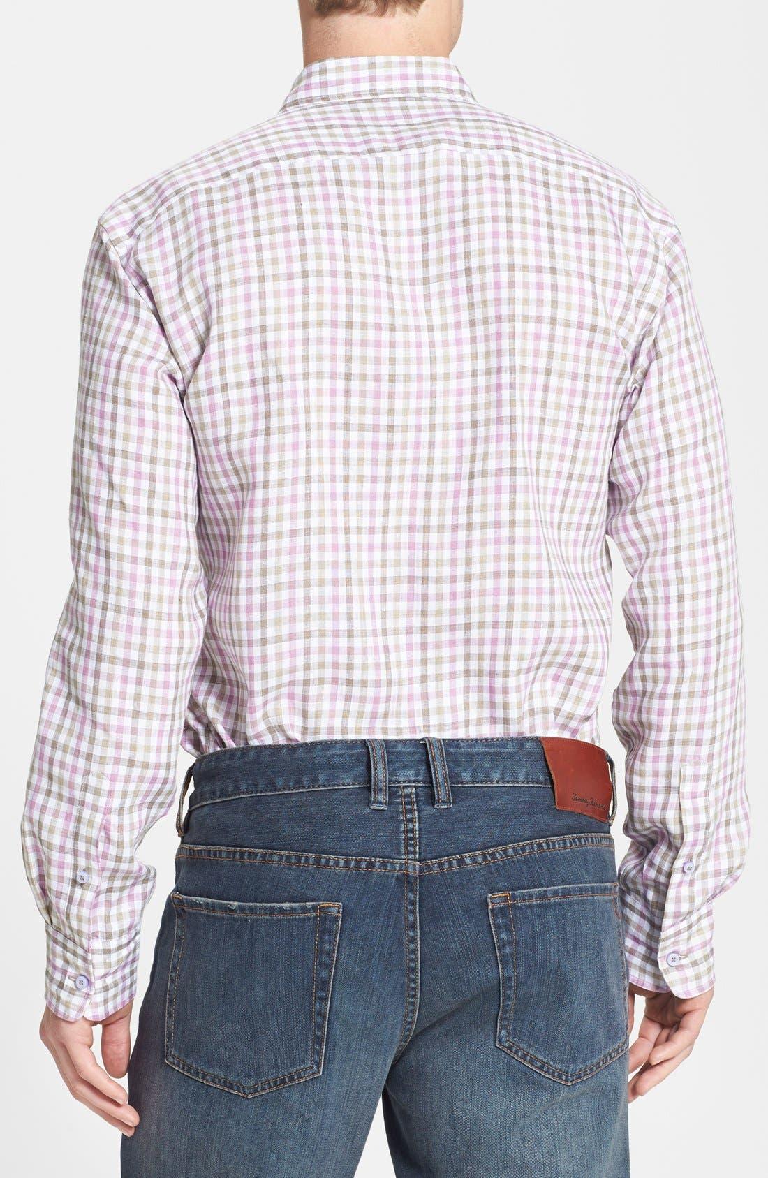 Alternate Image 2  - Thomas Dean Regular Fit Linen Sport Shirt