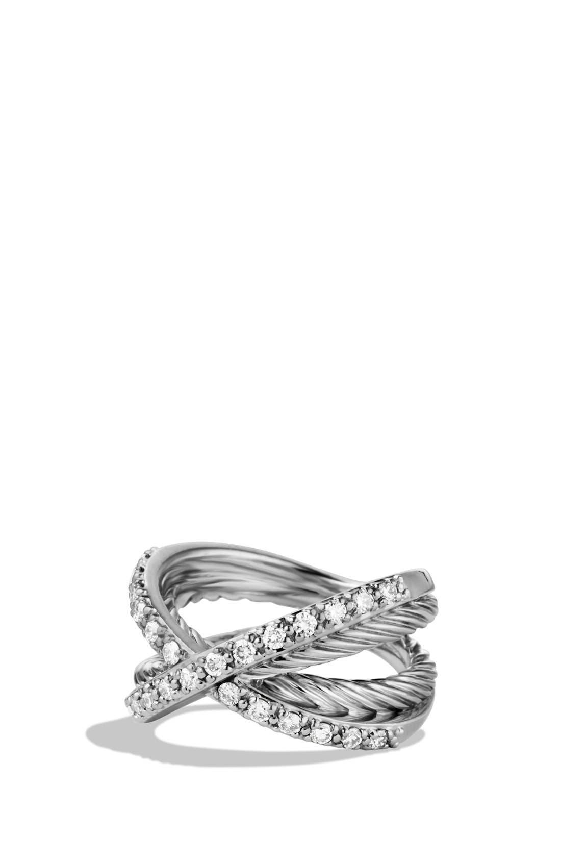 Alternate Image 1 Selected - David Yurman 'Crossover' Pavé Diamond Ring