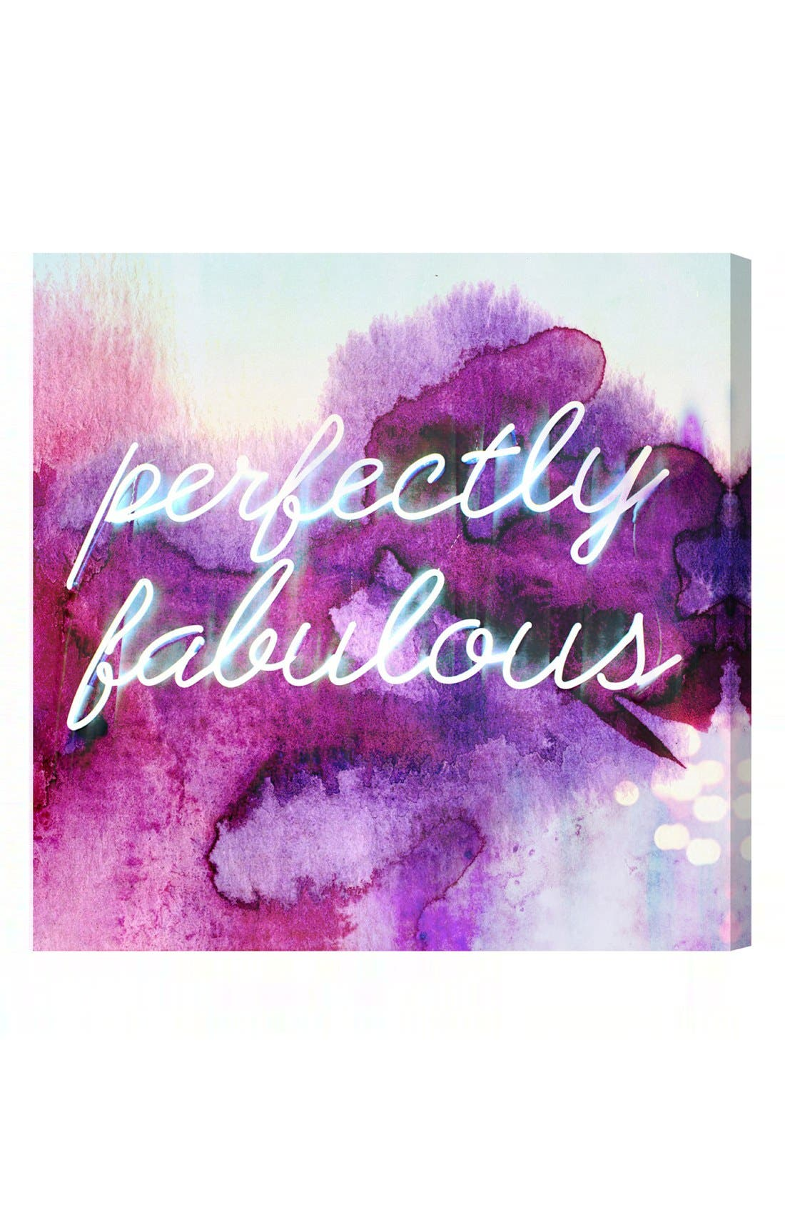 'Perfectly Fabulous' Wall Art,                         Main,                         color, Purple