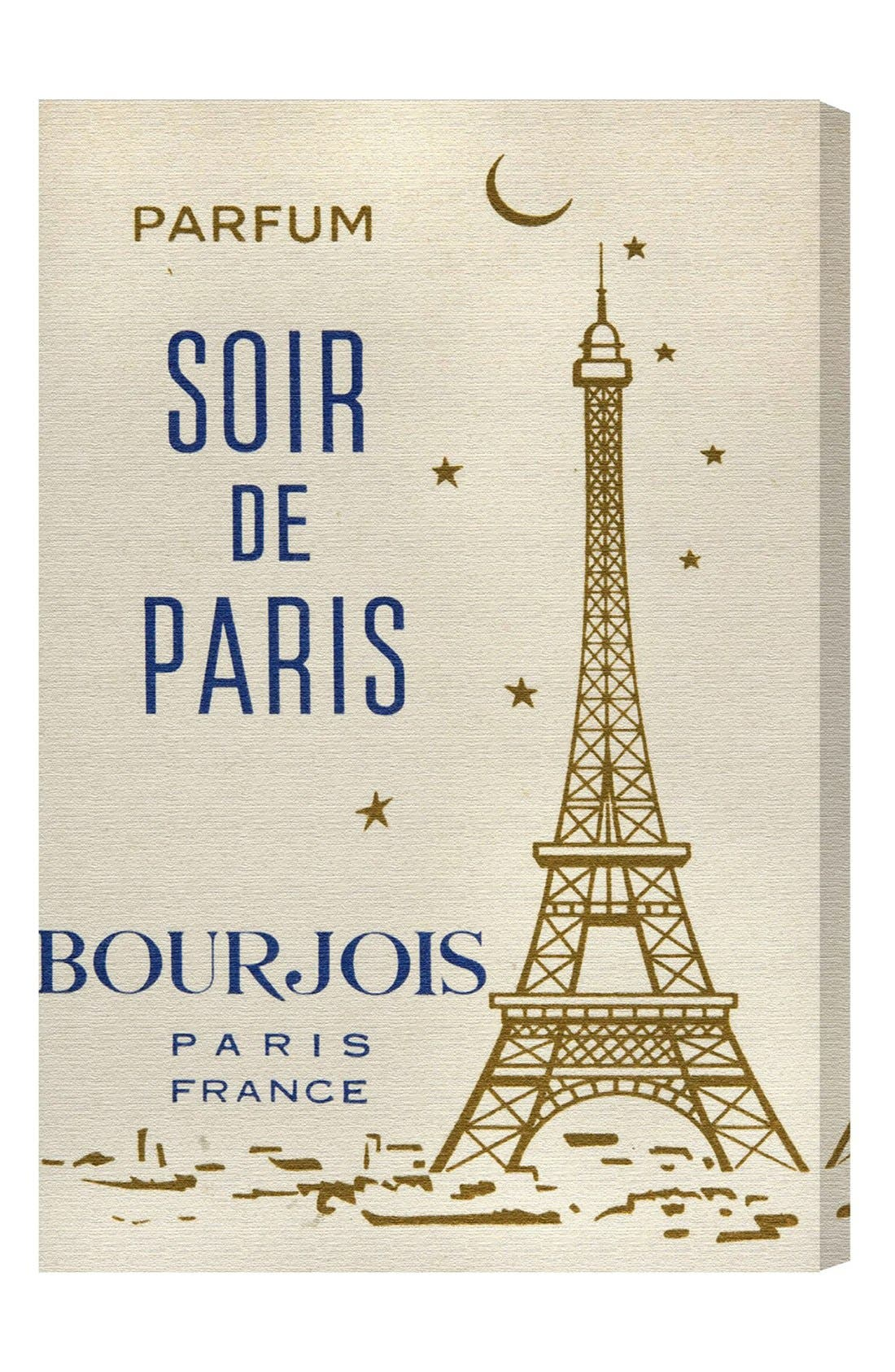 'Parfum Soir de Paris' Wall Art,                             Main thumbnail 1, color,                             Beige/ Khaki
