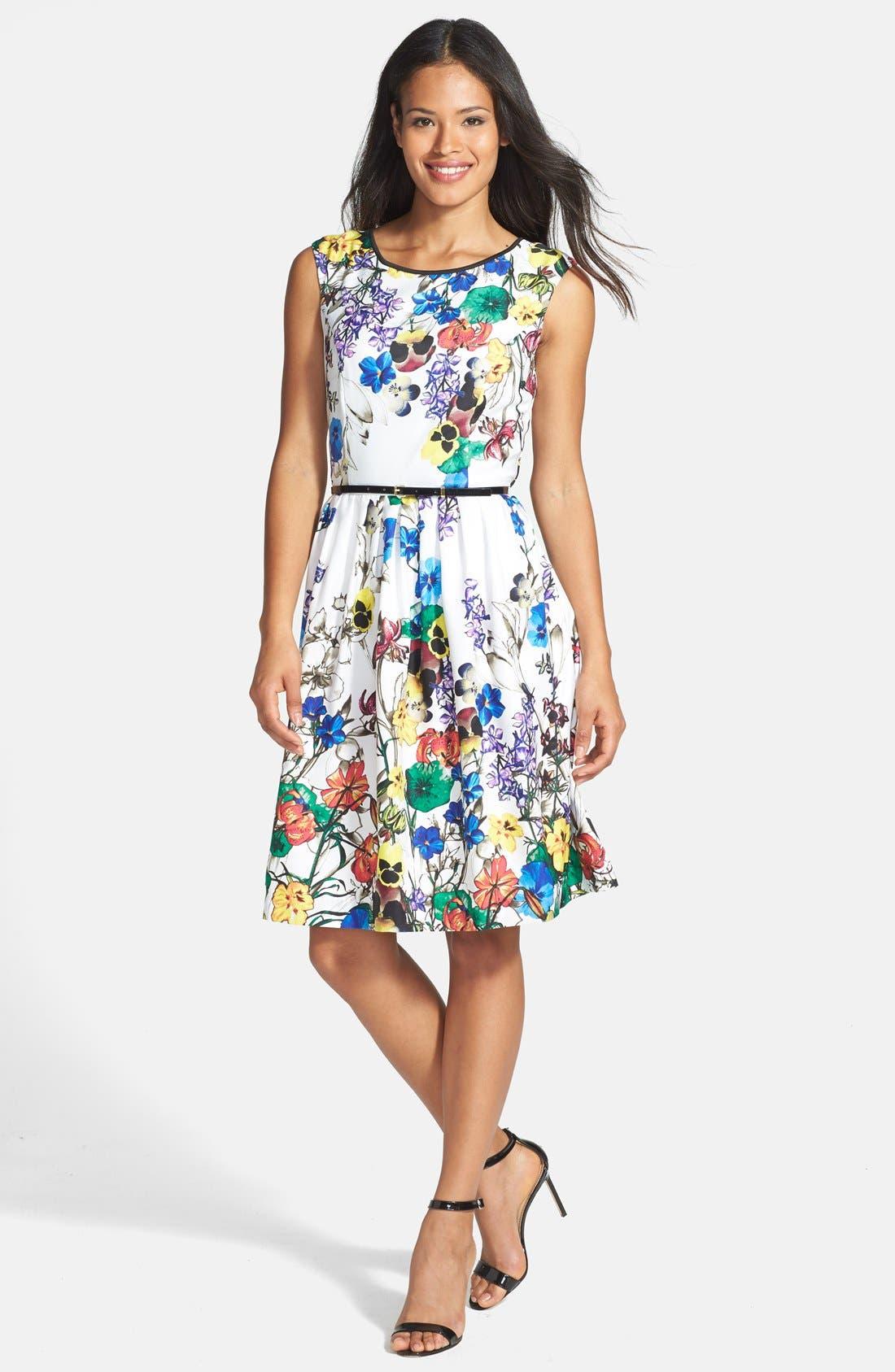 Alternate Image 2  - Ellen Tracy Fit & Flare Dress