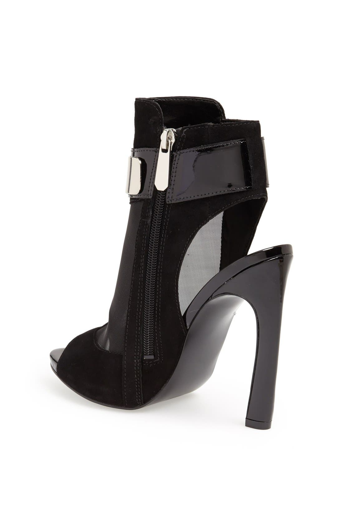 Alternate Image 2  - GUESS 'Anavey' Suede & Mesh Peep Toe Bootie