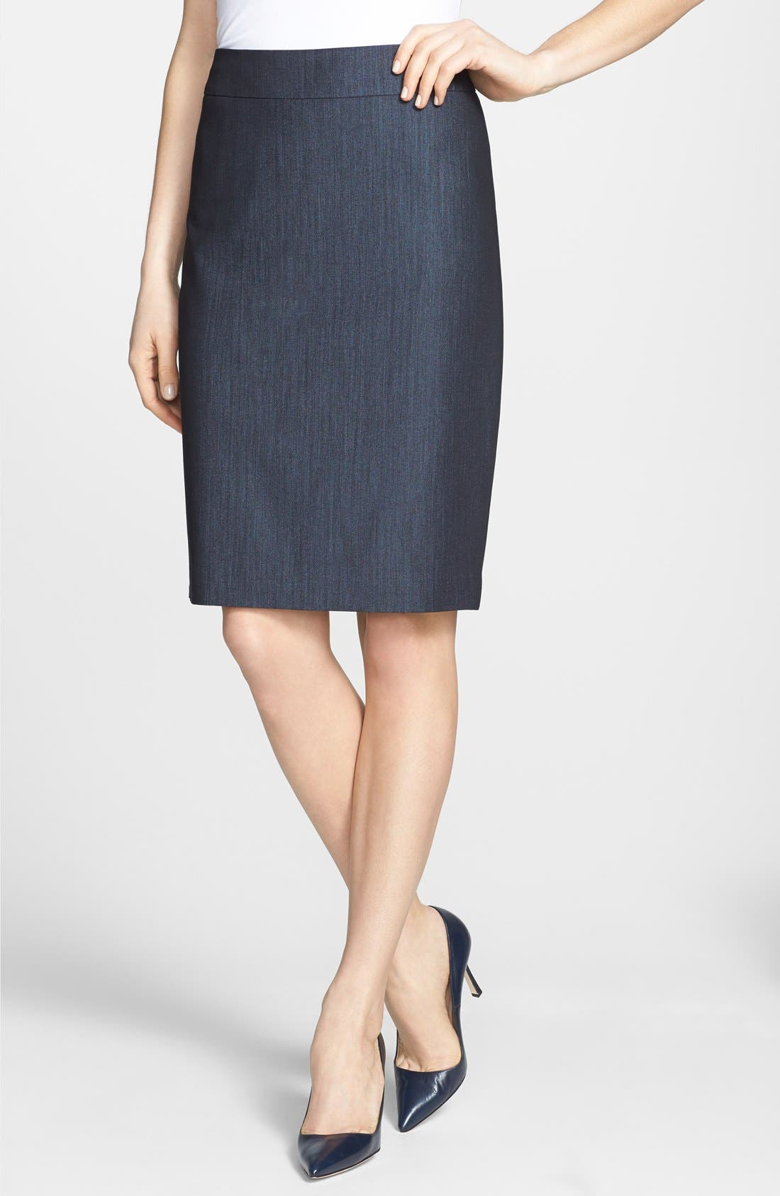 'Lucy - Seasonless Stretch' Pencil Skirt,                         Main,                         color, Navy Combo