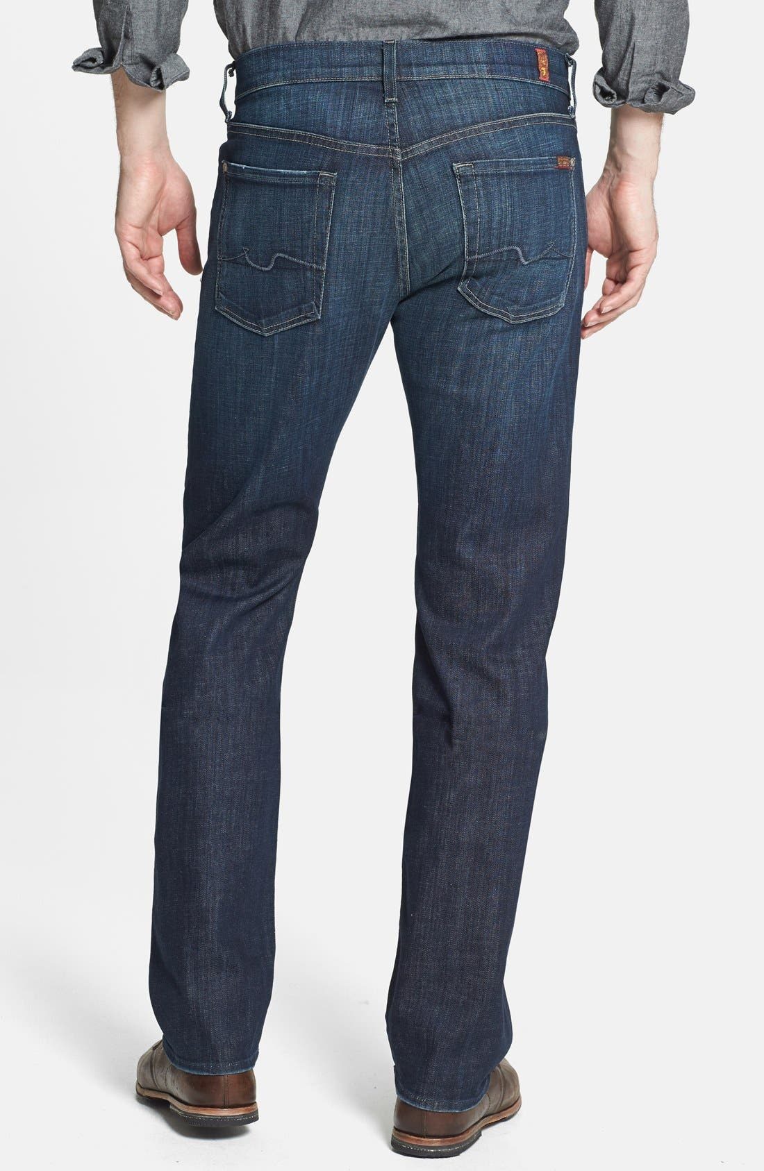 Alternate Image 2  - 7 For All Mankind® 'Standard' Straight Leg Jeans (Los Angeles Dark)