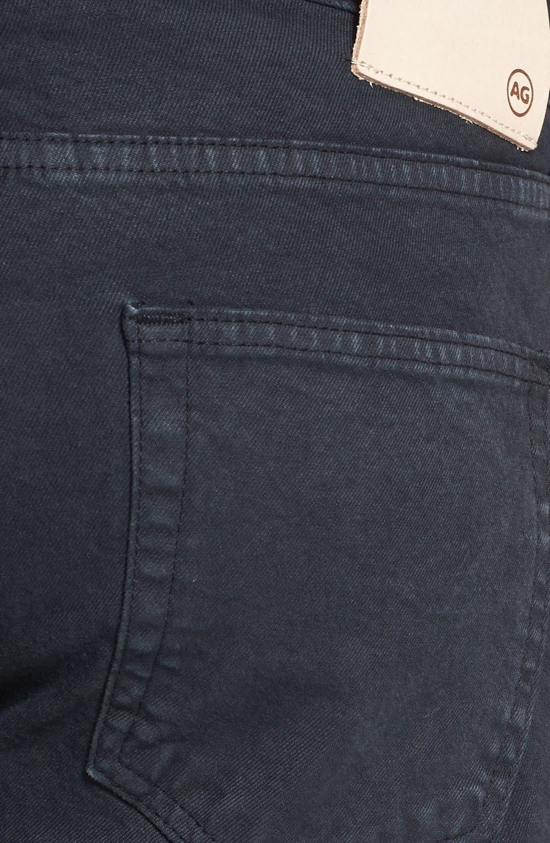 Alternate Image 4  - AG 'Matchbox' Slim Fit Selvedge Jeans (True Black)