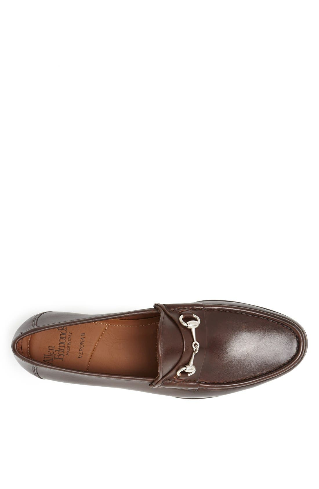 Verona II Bit Loafer,                             Alternate thumbnail 3, color,                             Brown/ Brown