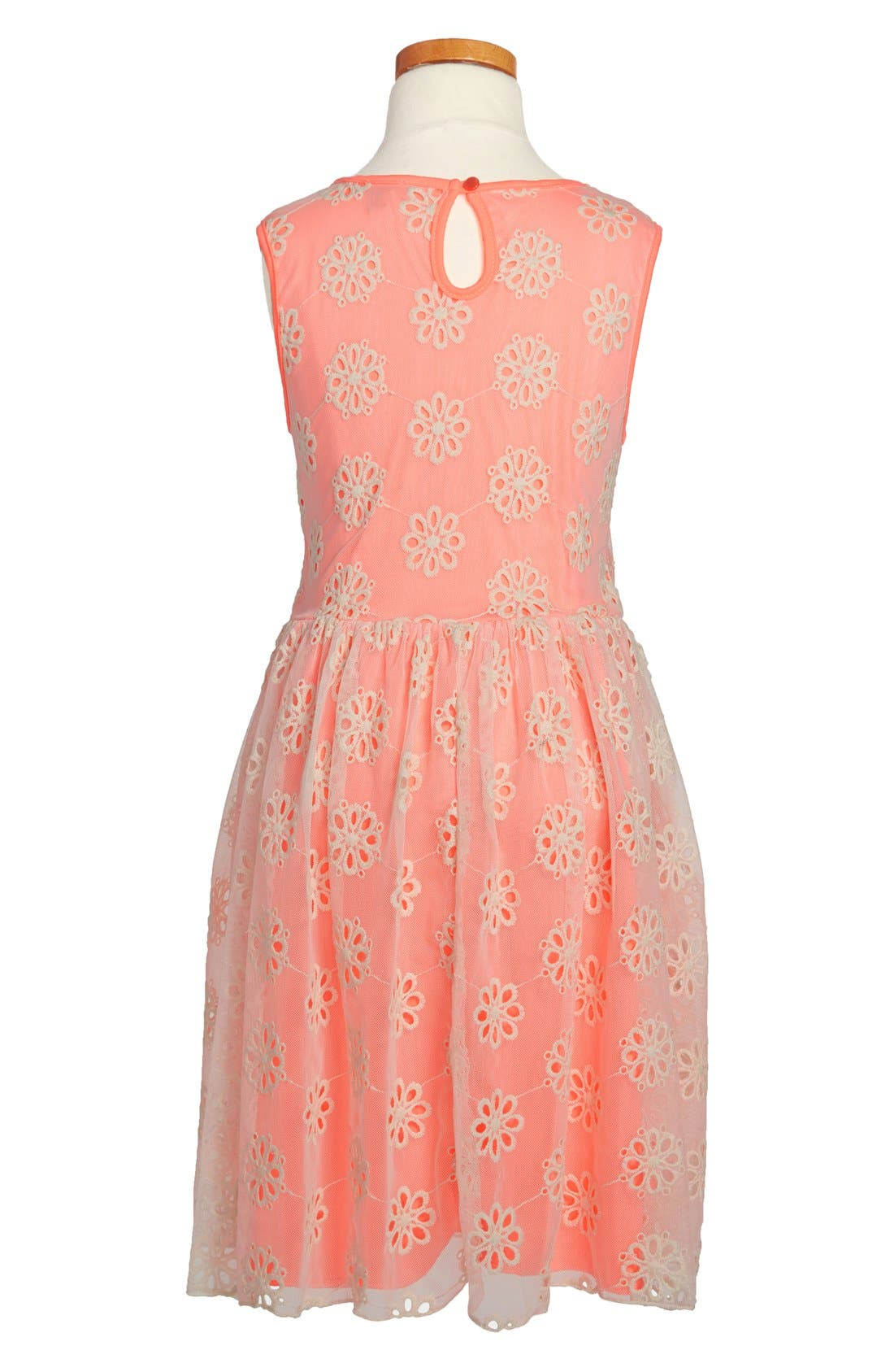 Alternate Image 2  - Zunie Embroidered Sleeveless Dress (Little Girls & Big Girls)