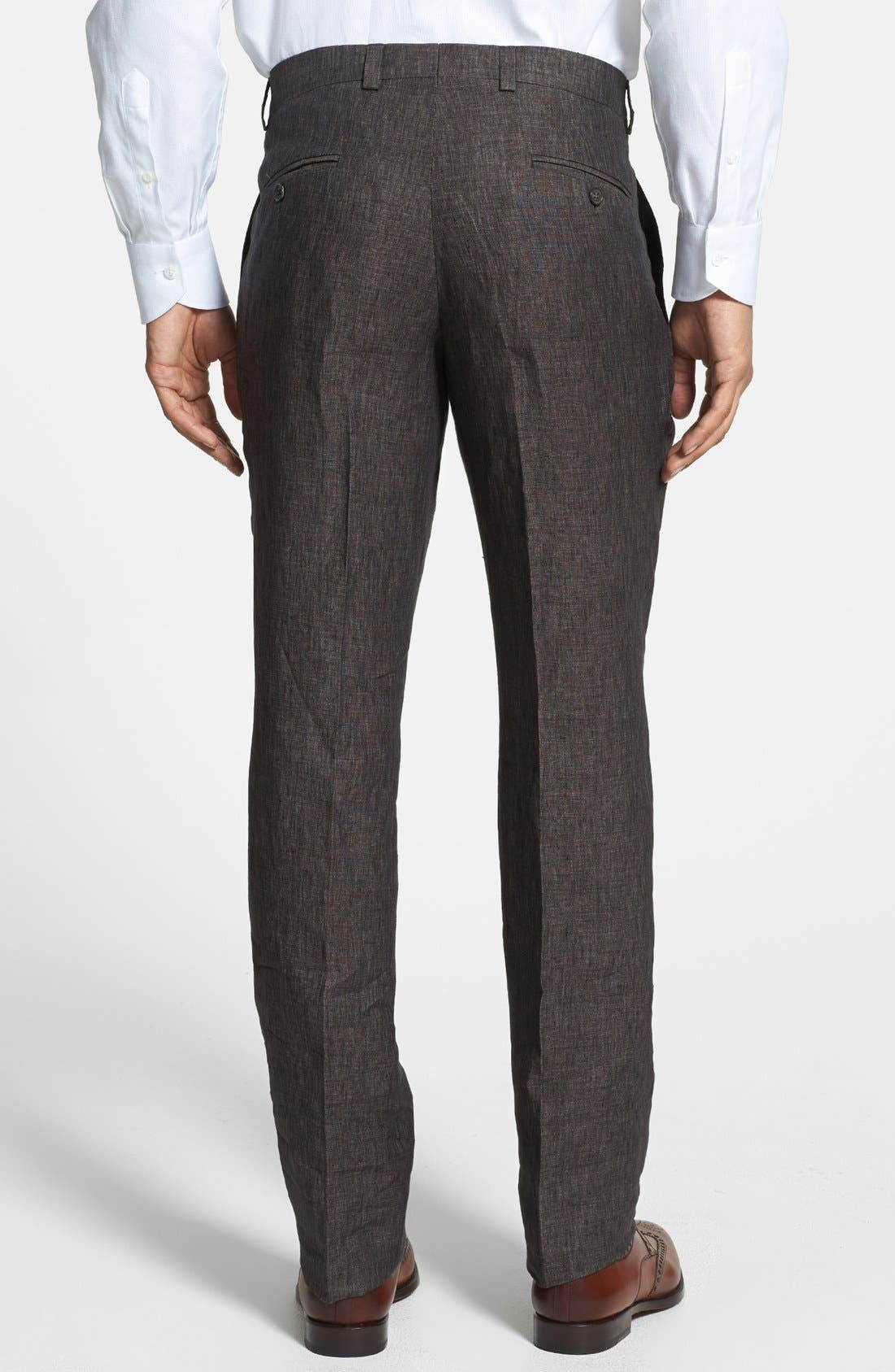 Alternate Image 2  - Ted Baker London 'Columbus' Flat Front Trousers