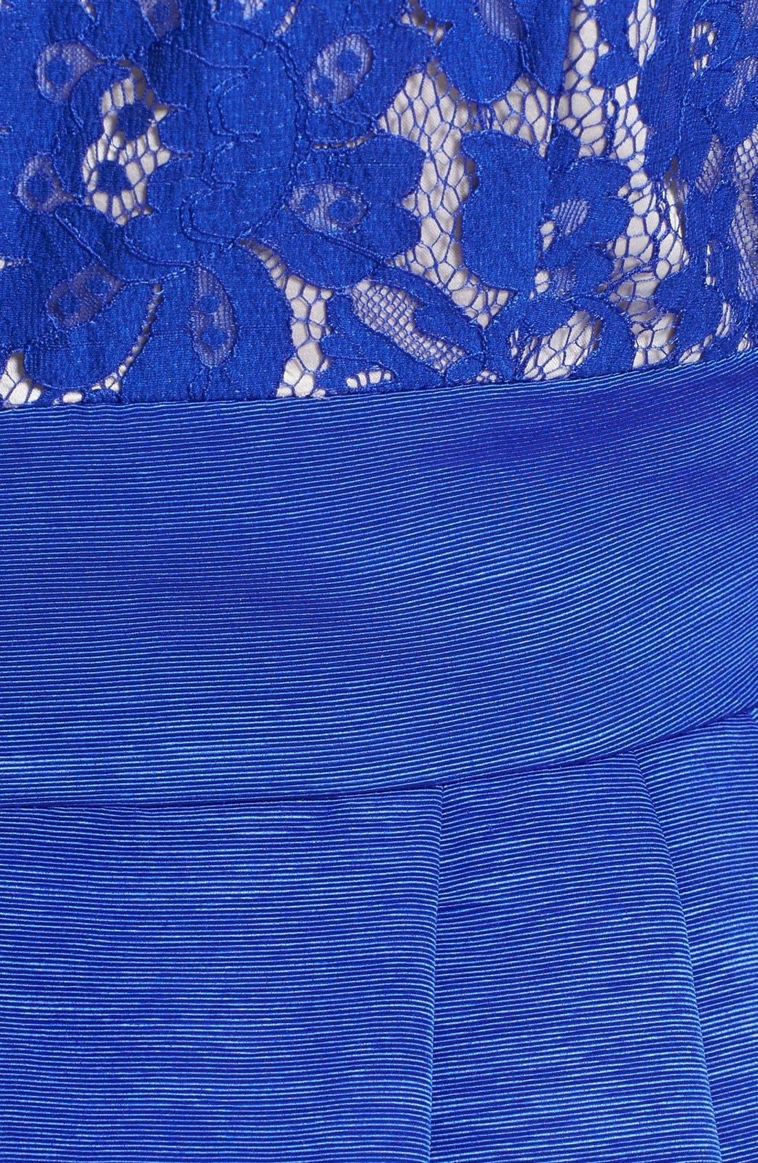 Alternate Image 3  - Eliza J Lace & Faille Dress