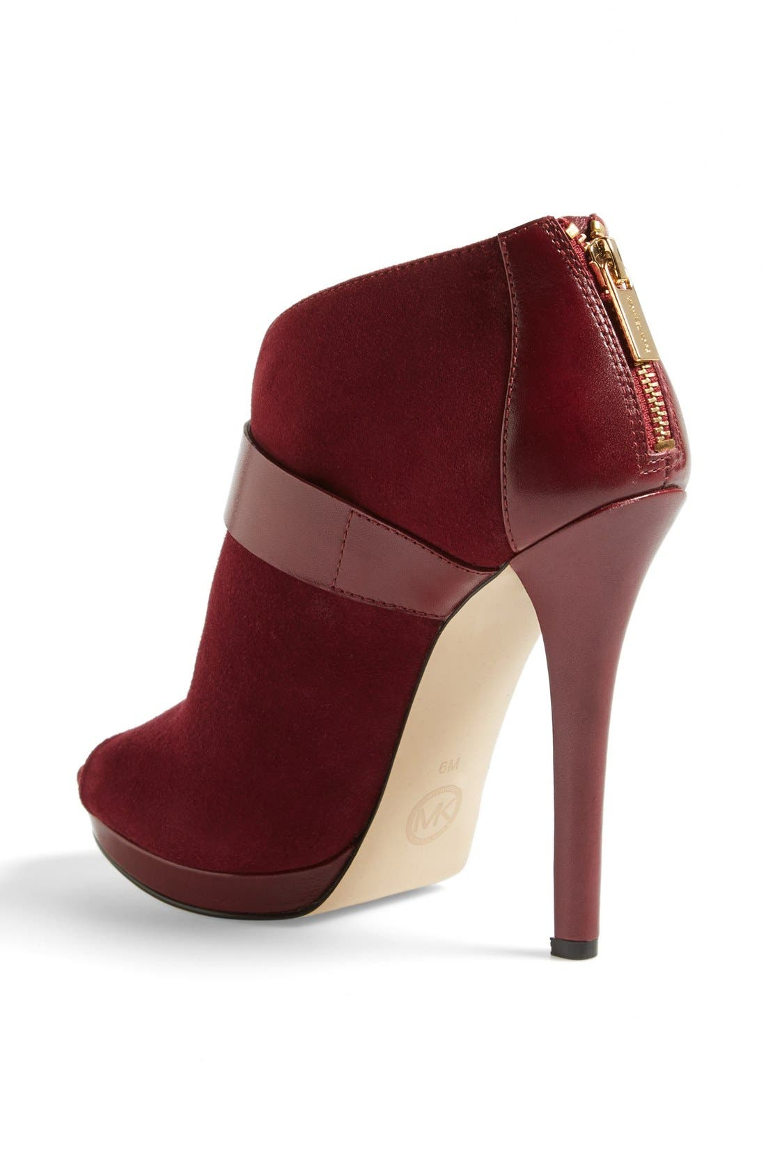 Alternate Image 2  - MICHAEL Michael Kors 'Guiliana' Peep Toe Bootie (Women)