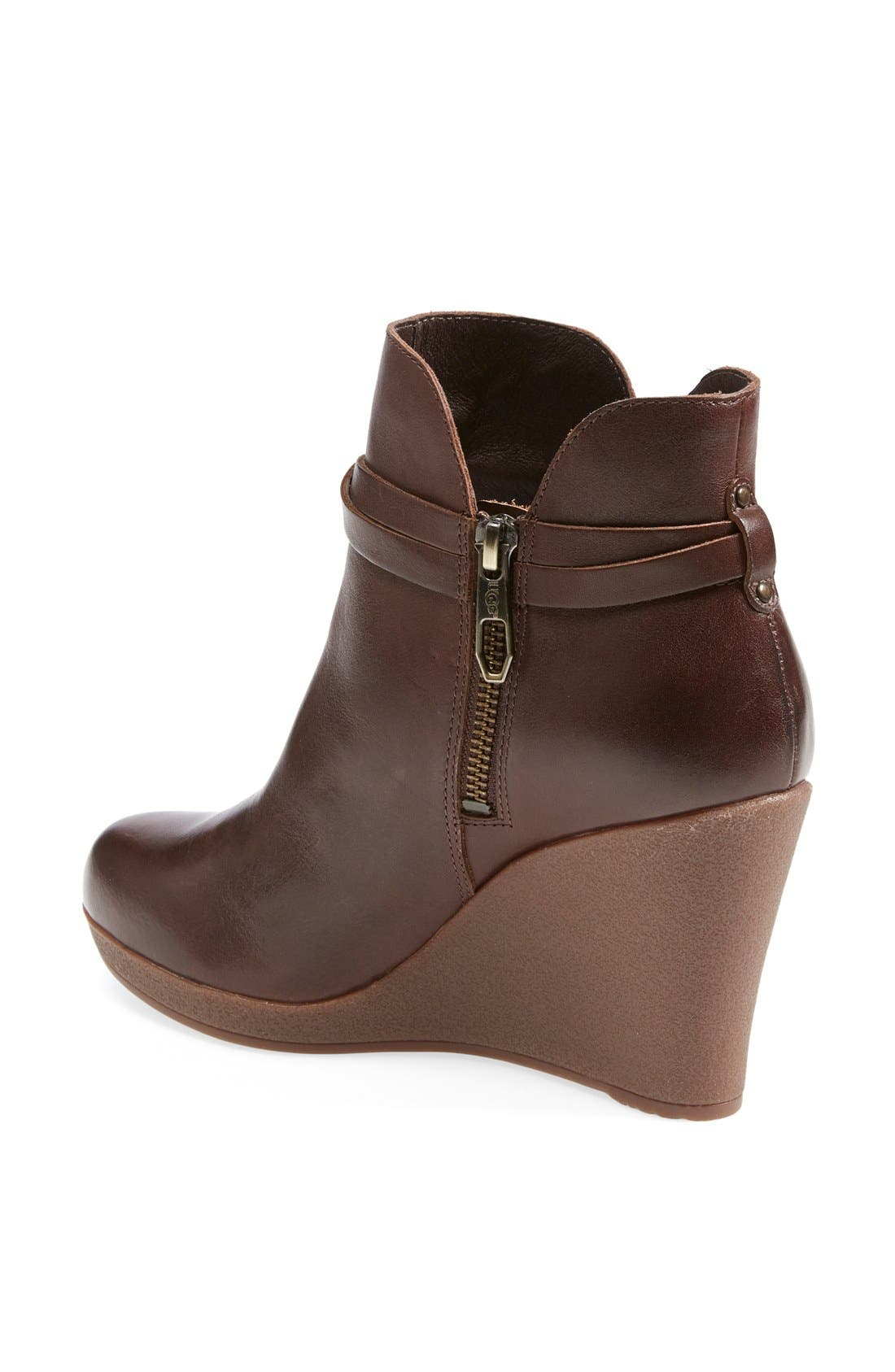 Alternate Image 2  - UGG® Australia 'Alexandra' Water Resistant Wedge Bootie (Women)