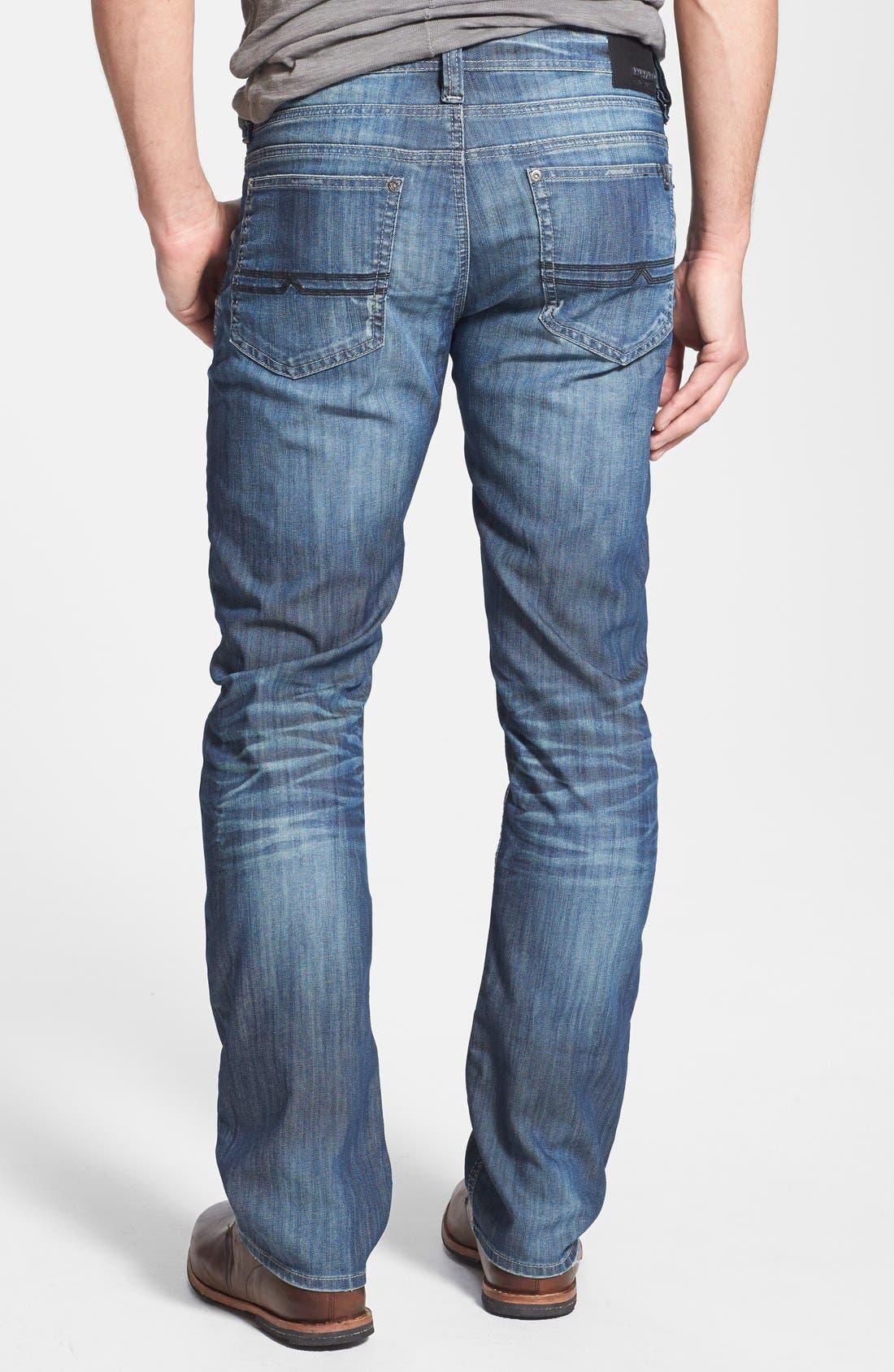 Alternate Image 2  - Buffalo Jeans 'Evan' Slim Straight Leg Jeans (Distress)
