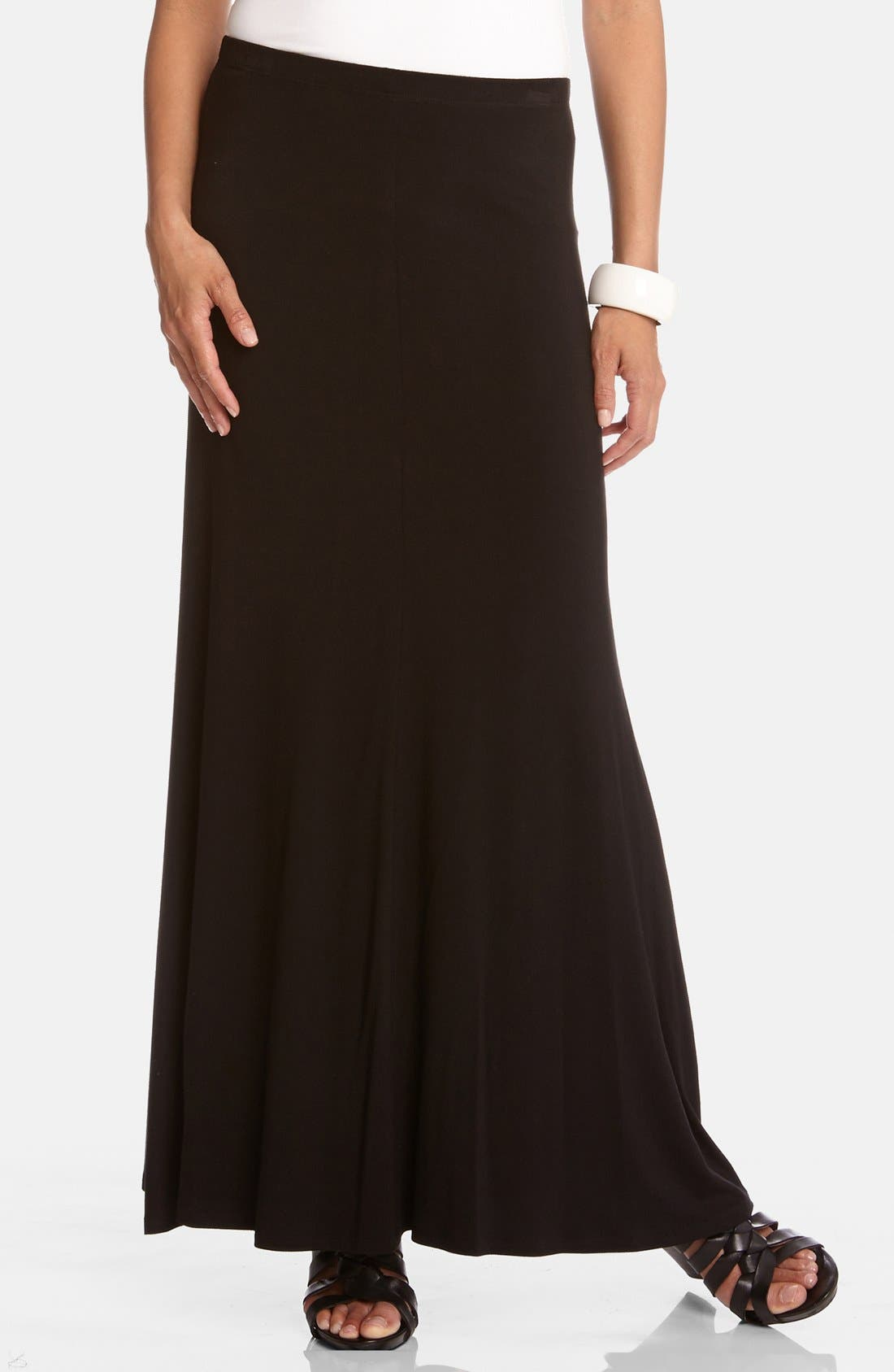 Flared Maxi Skirt,                         Main,                         color, Black
