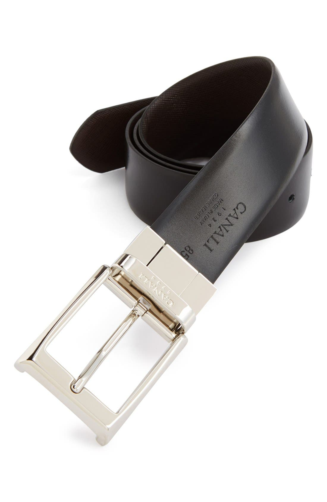 Alternate Image 2  - Canali Reversible Leather Belt