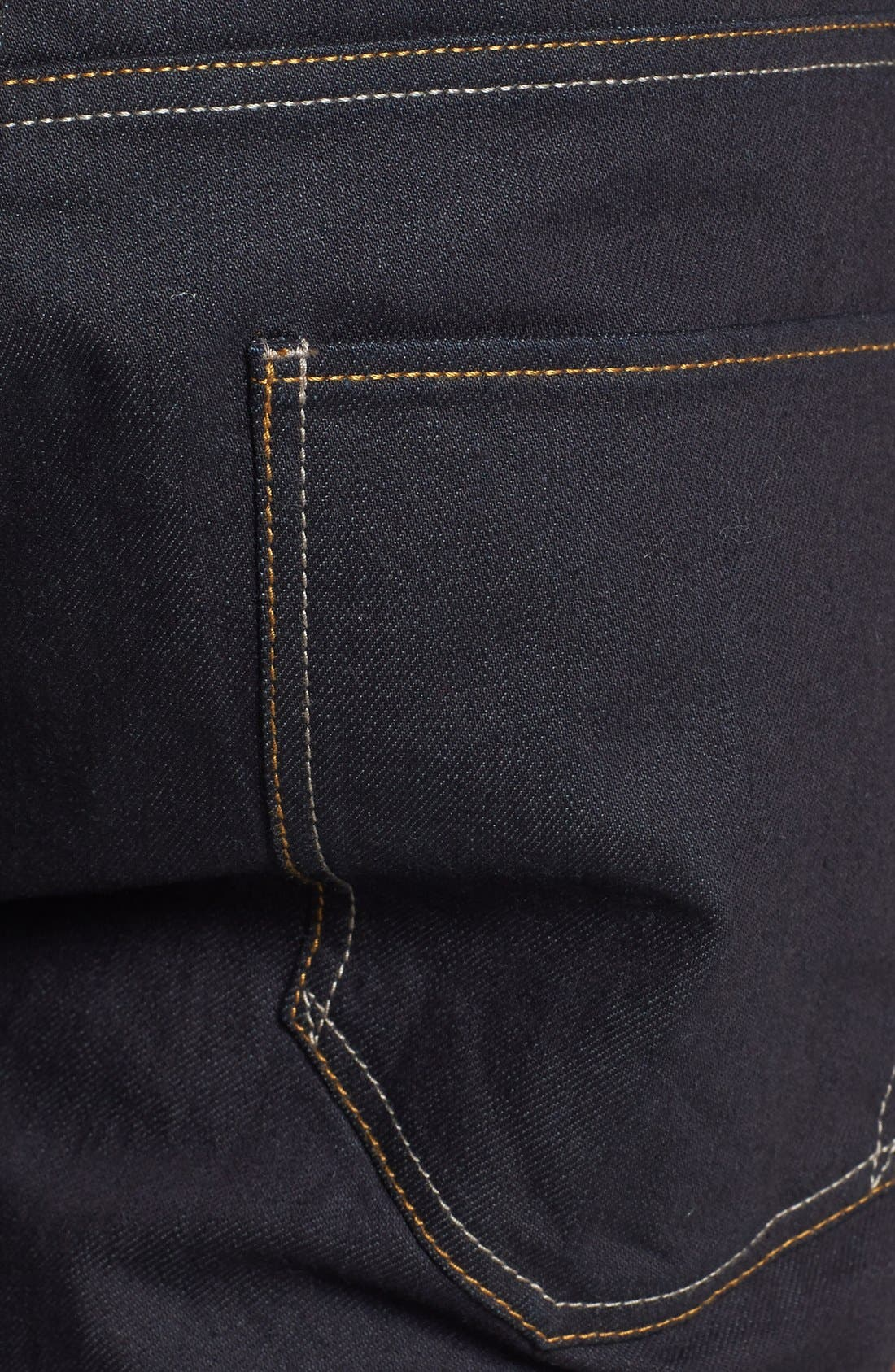 Alternate Image 3  - Topman Coated Stretch Skinny Fit Jeans (Dark Blue)