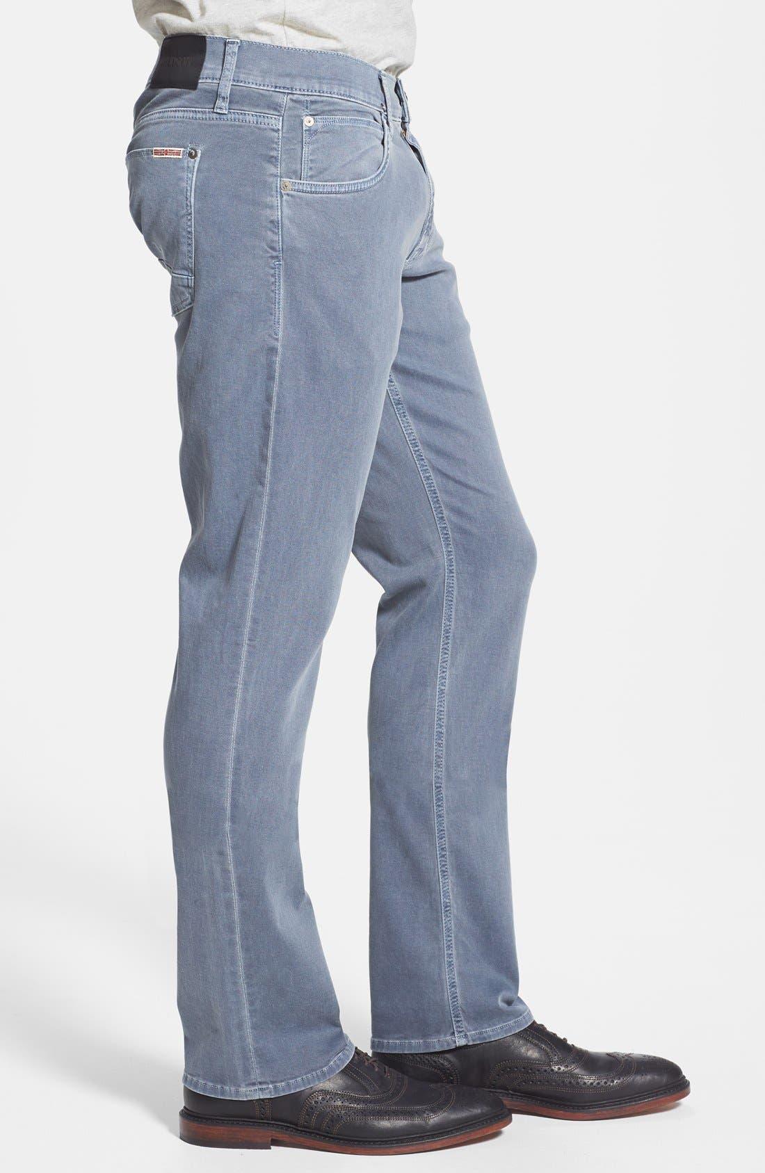 Alternate Image 4  - Hudson Jeans 'Byron' Straight Leg Jeans (Sunfaded Petrol)