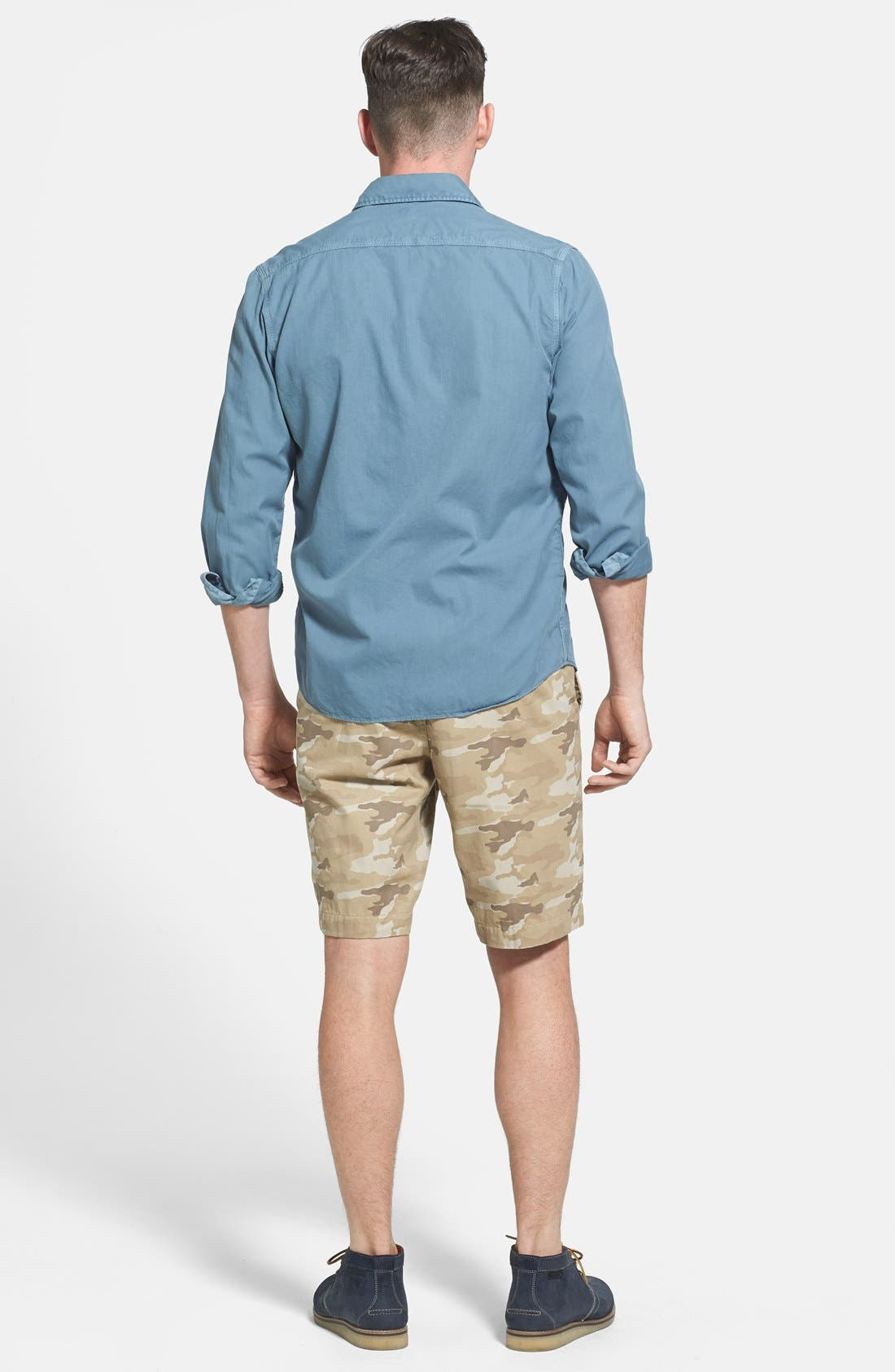 Alternate Image 5  - Faherty 'Sea View' Twill Sport Shirt