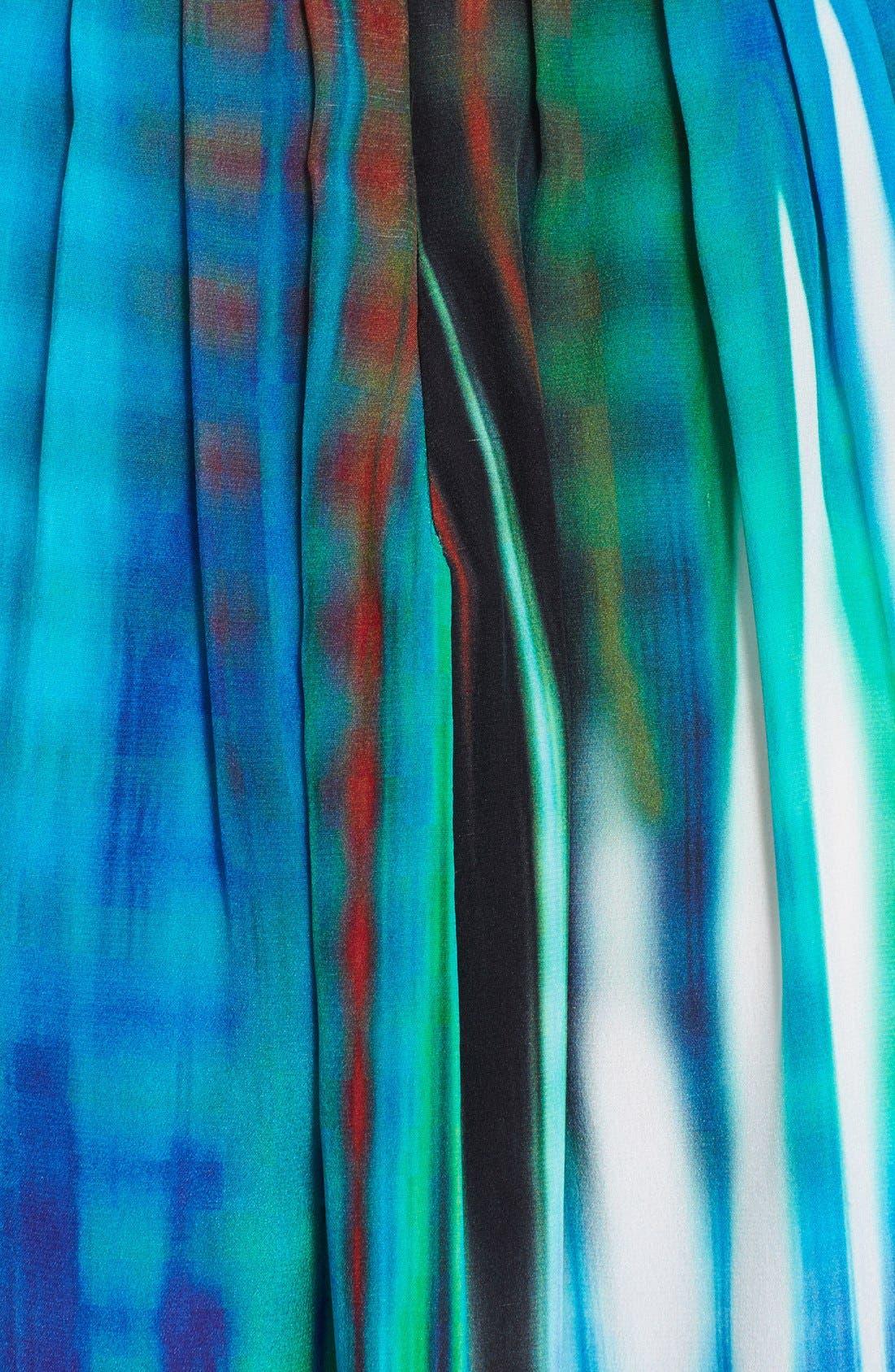 Alternate Image 3  - Tracy Reese Cutout Print Silk Maxi Dress
