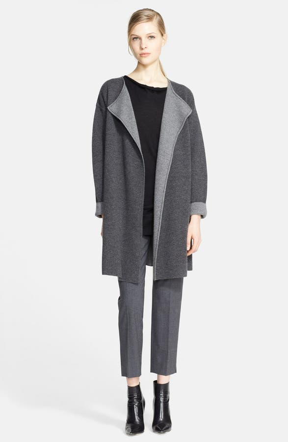 Nordstrom Signature Two-Tone Cashmere Sweater Coat | Nordstrom