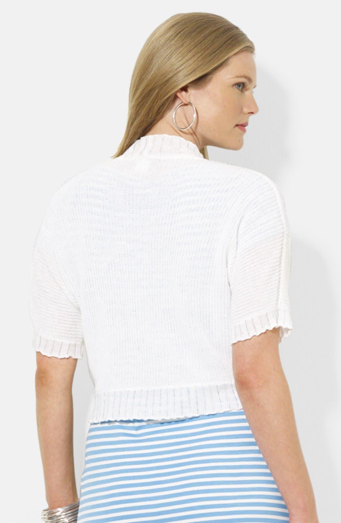 Alternate Image 2  - Lauren Ralph Lauren Elbow Sleeve Shrug (Plus Size)