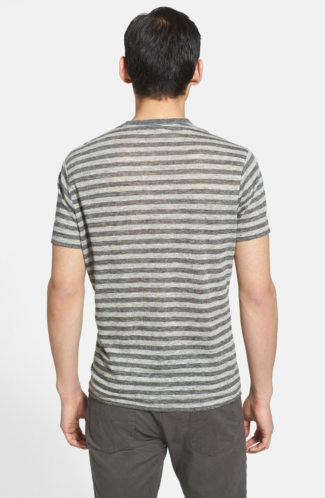 Alternate Image 2  - Vince Stripe Linen Crewneck T-Shirt