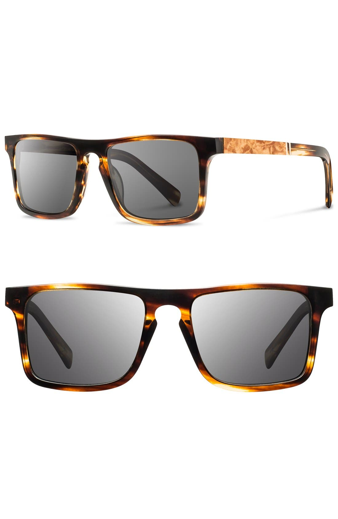 SHWOOD Govy 52mm Wood Sunglasses
