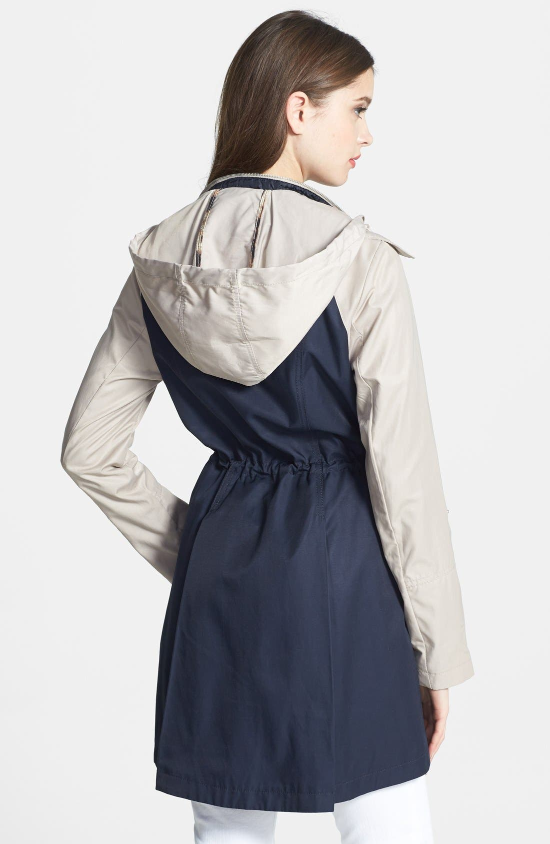 Alternate Image 2  - Laundry by Shelli Segal Two-Tone Double Breasted Anorak