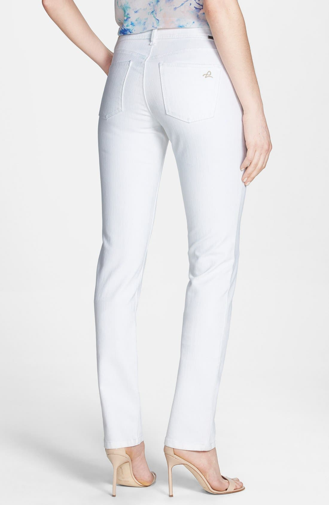 Alternate Image 2  - DL1961 'Coco' Curvy Straight Jeans (Milk)