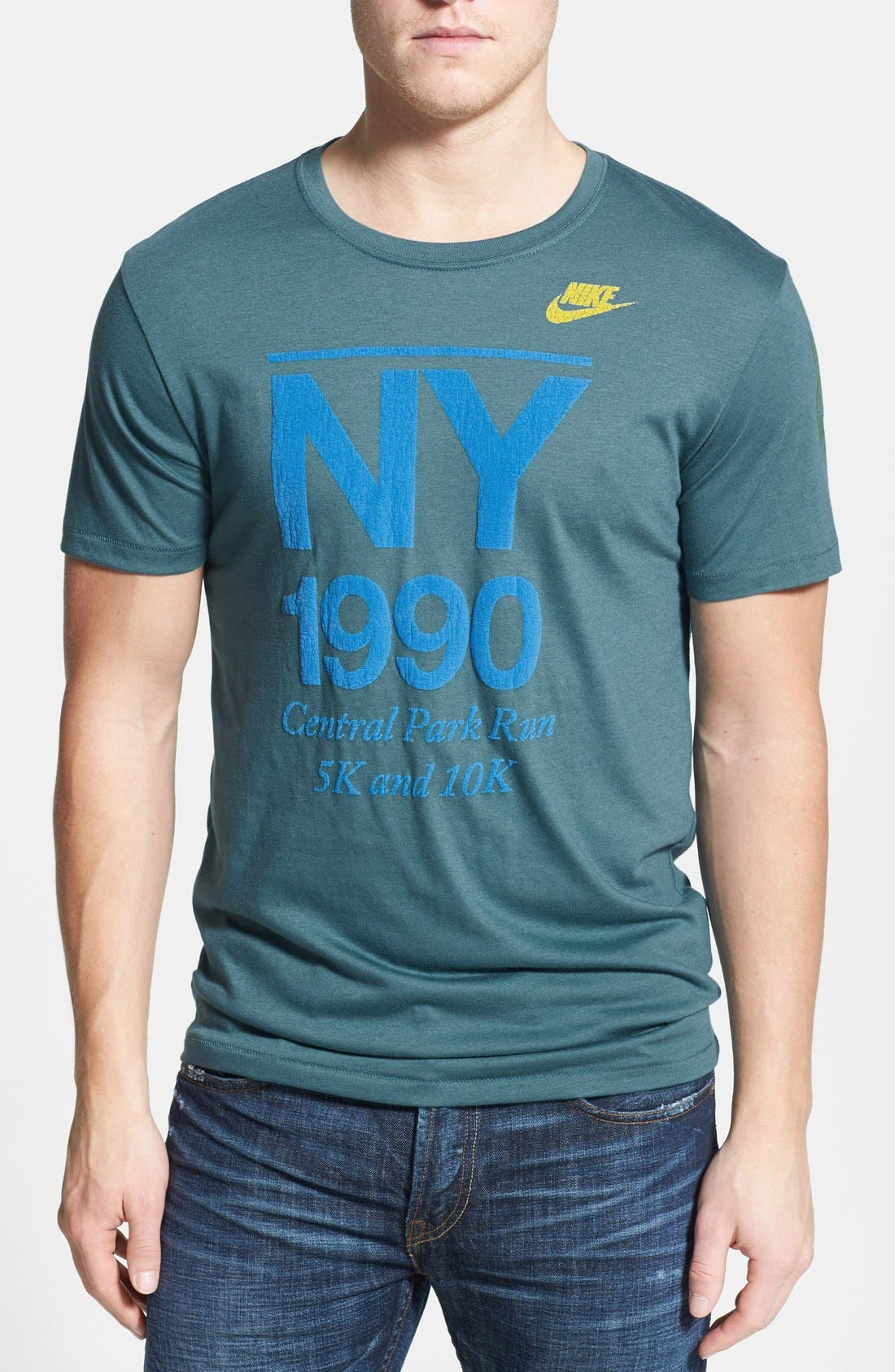 Alternate Image 1 Selected - Nike 'New York - Glory Top' T-Shirt