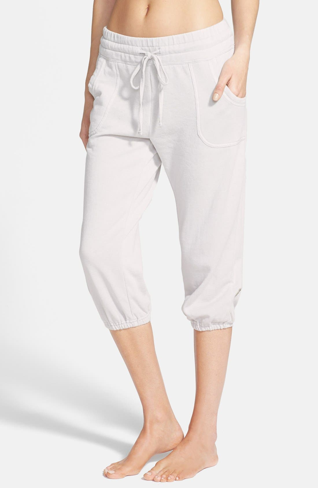 Alternate Image 1 Selected - Marc New York by Andrew Marc Distressed Fleece Crop Sweatpants