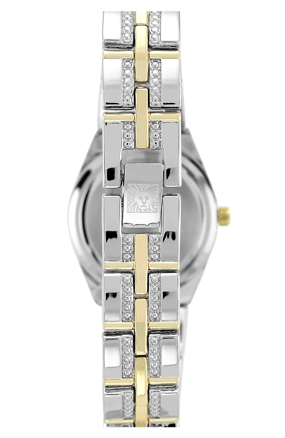 Alternate Image 2  - Anne Klein Crystal Bezel Bracelet Watch