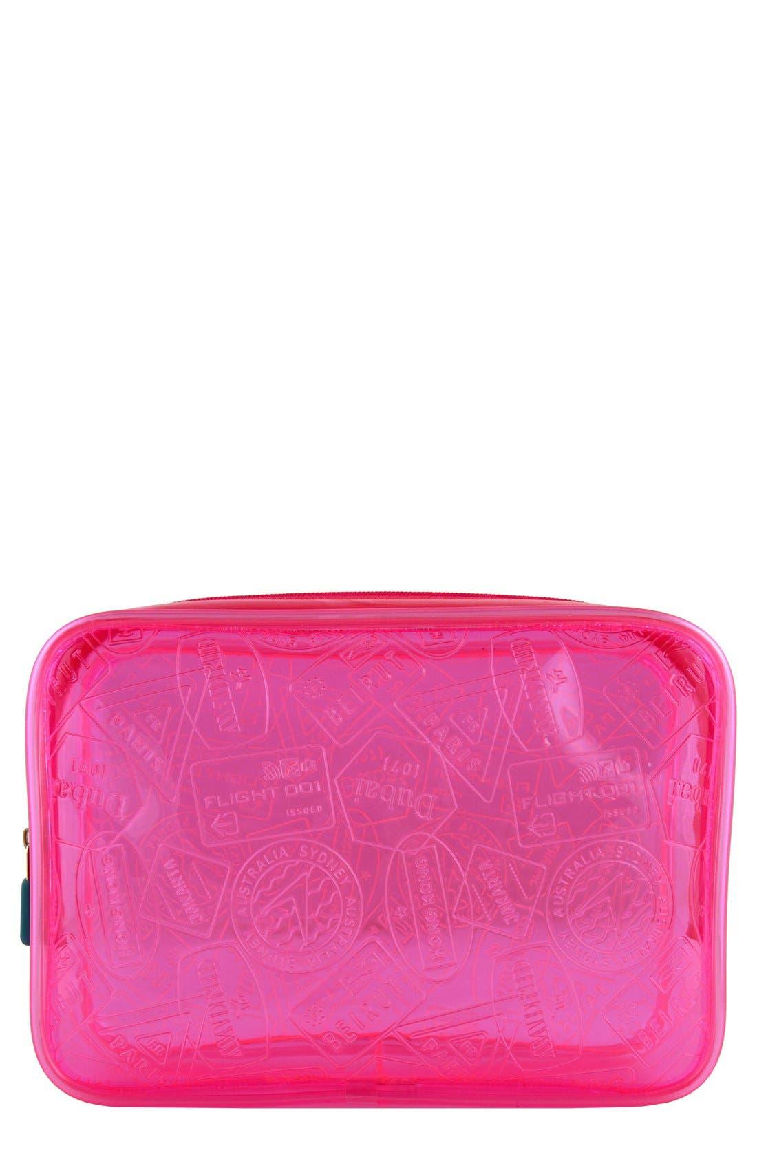 X-Ray Neon Quart Bag,                             Main thumbnail 1, color,                             Pink