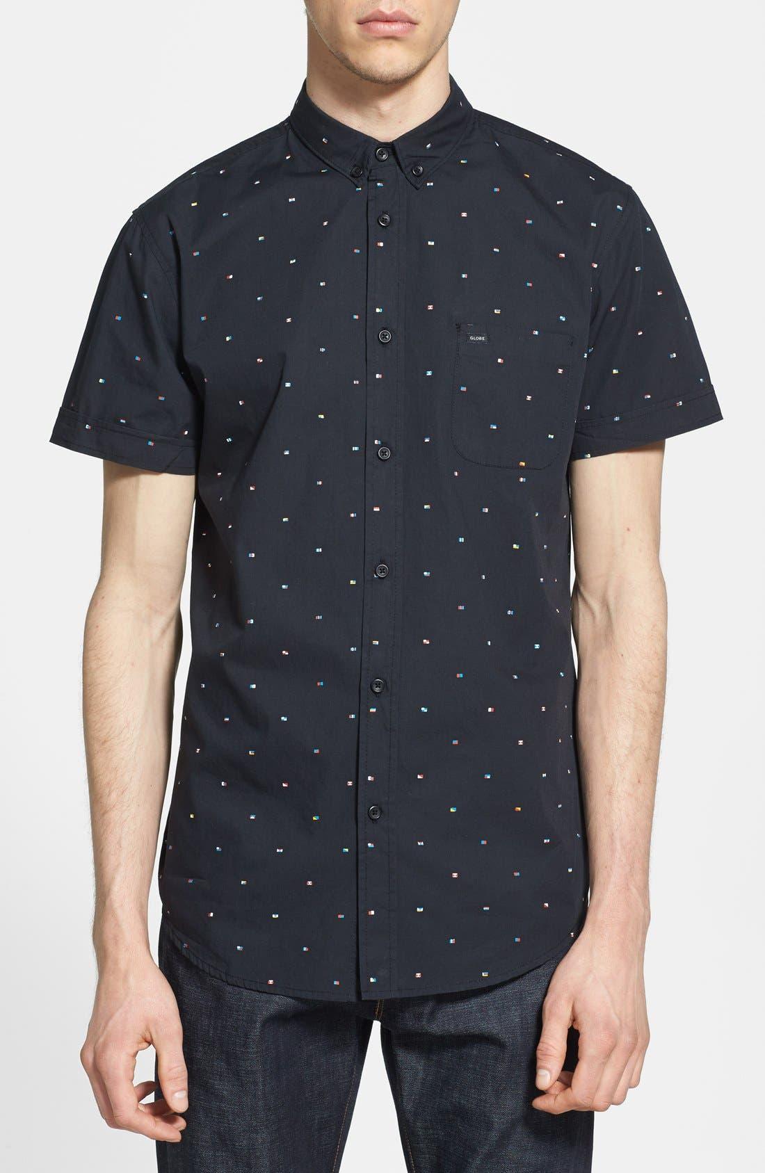 Alternate Image 1 Selected - Globe 'Signal' Short Sleeve Print Shirt