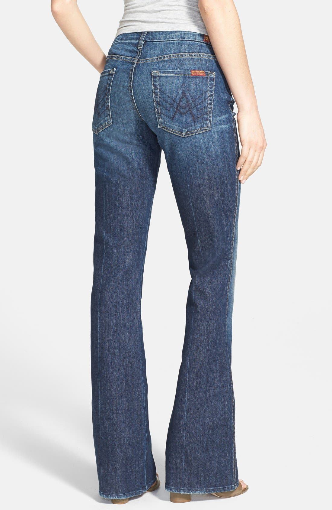 Alternate Image 2  - 7 For All Mankind® Flare Jeans (Nouveau New York)