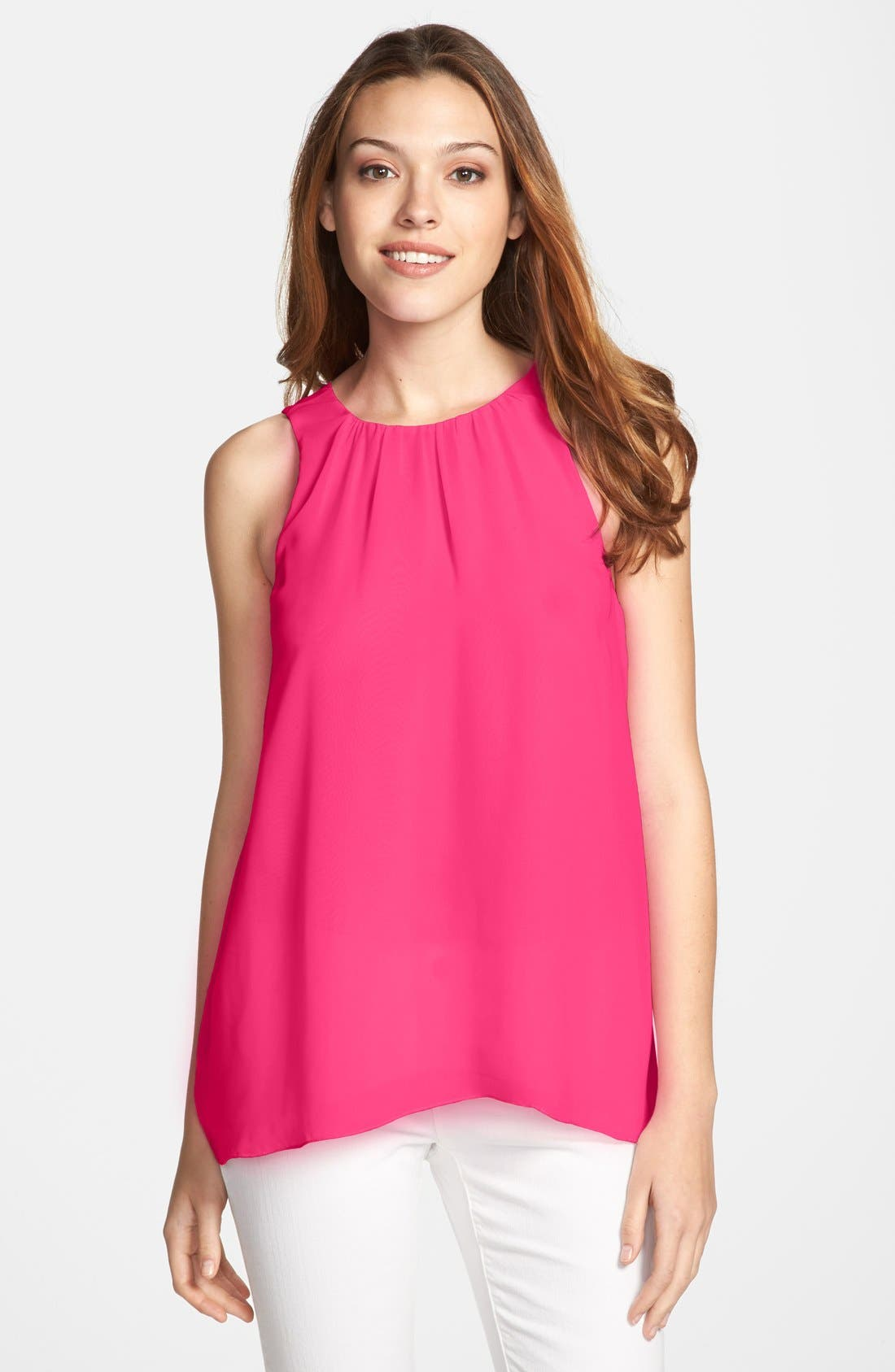 Alternate Image 1 Selected - Vince Camuto Sleeveless Chiffon Blouse (Regular & Petite)