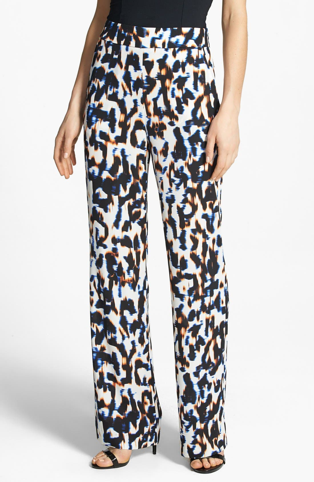 Alternate Image 1 Selected - WAYF Graphic Print Wide Leg Pants